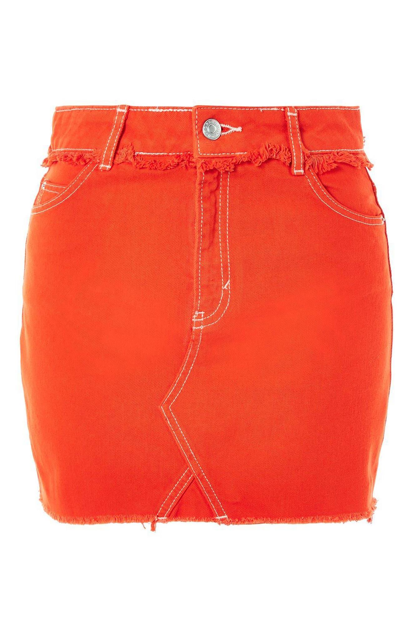 Denim Miniskirt,                             Alternate thumbnail 3, color,                             600