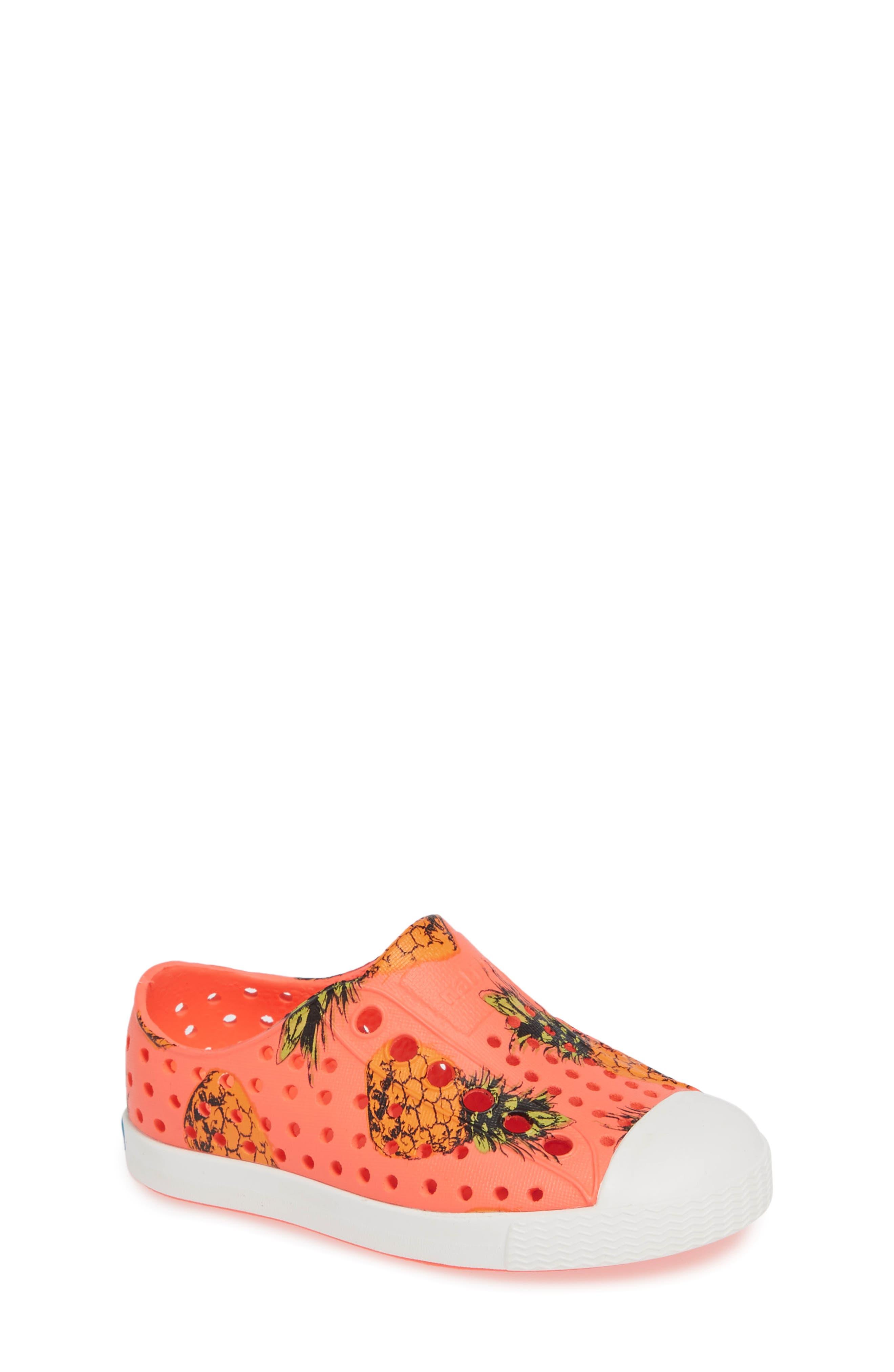 Jefferson Pineapple Print Water Friendly Sneaker,                             Main thumbnail 1, color,                             POPSTAR PINK/ WHITE PINEAPPLES