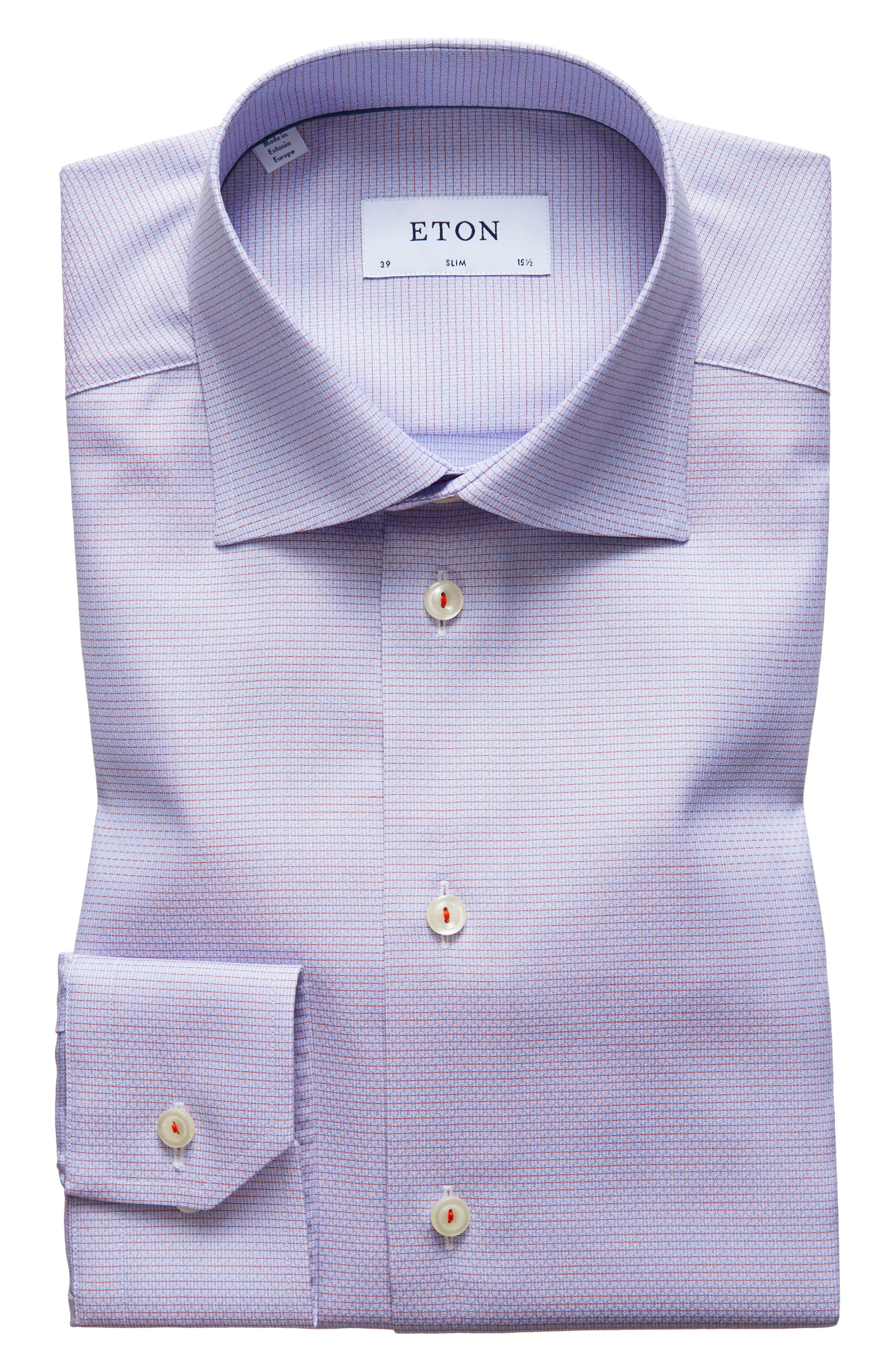 Slim Fit Check Dress Shirt,                         Main,                         color,