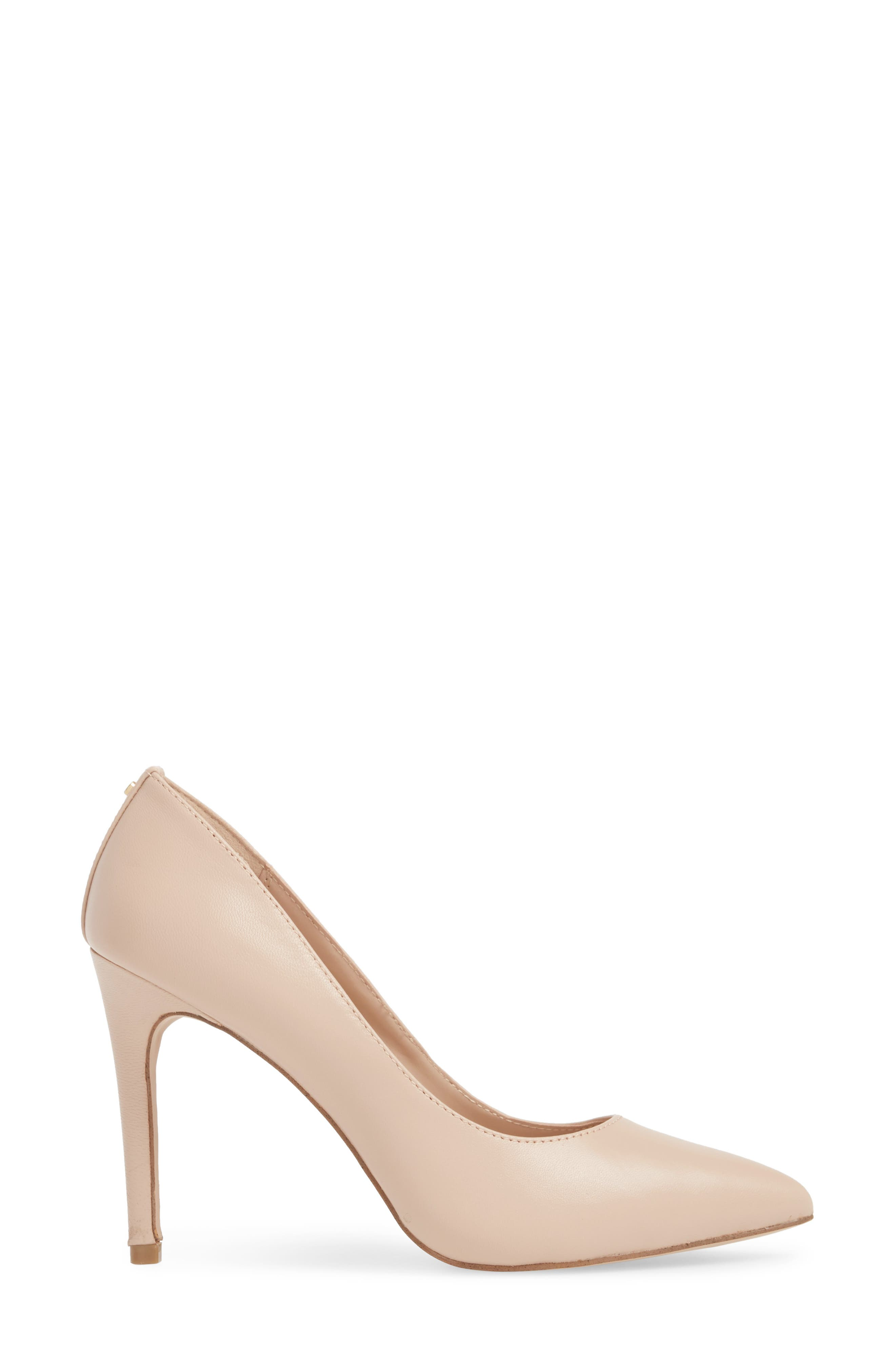BCBG,                             Heidi Pump,                             Alternate thumbnail 3, color,                             SHELL LEATHER