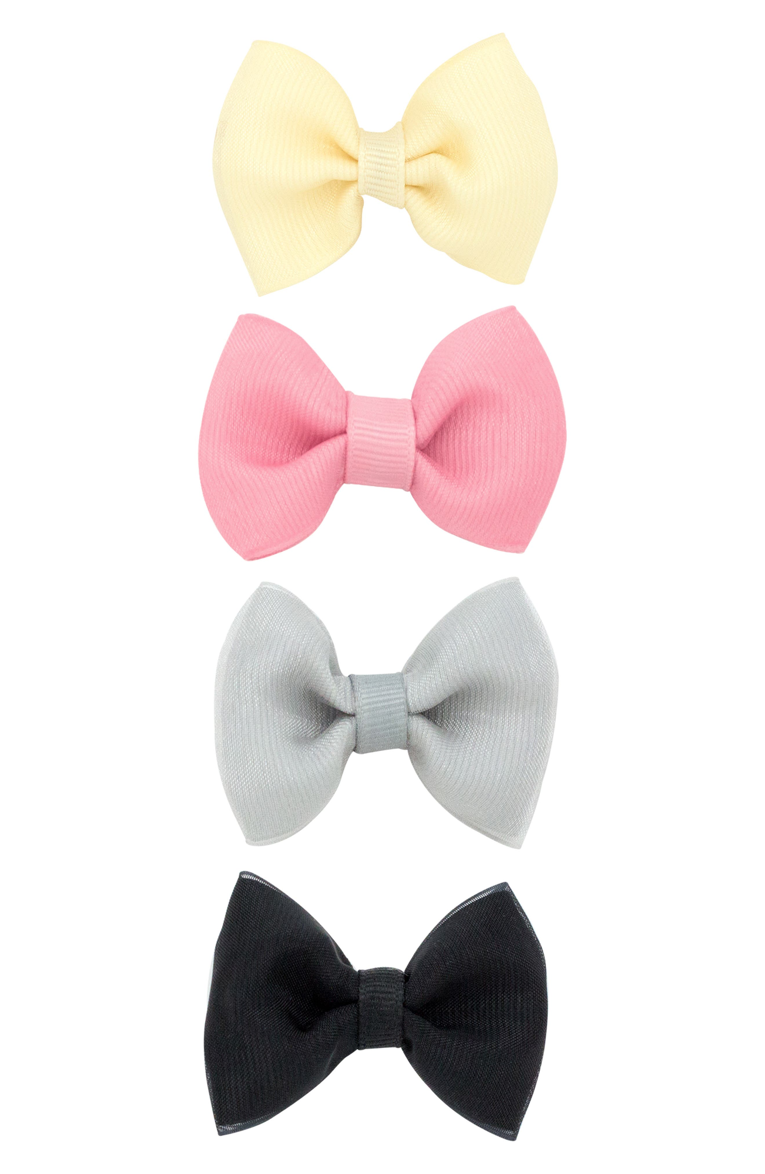 4-Pack Organza Bow Clips,                             Alternate thumbnail 2, color,                             PEONY