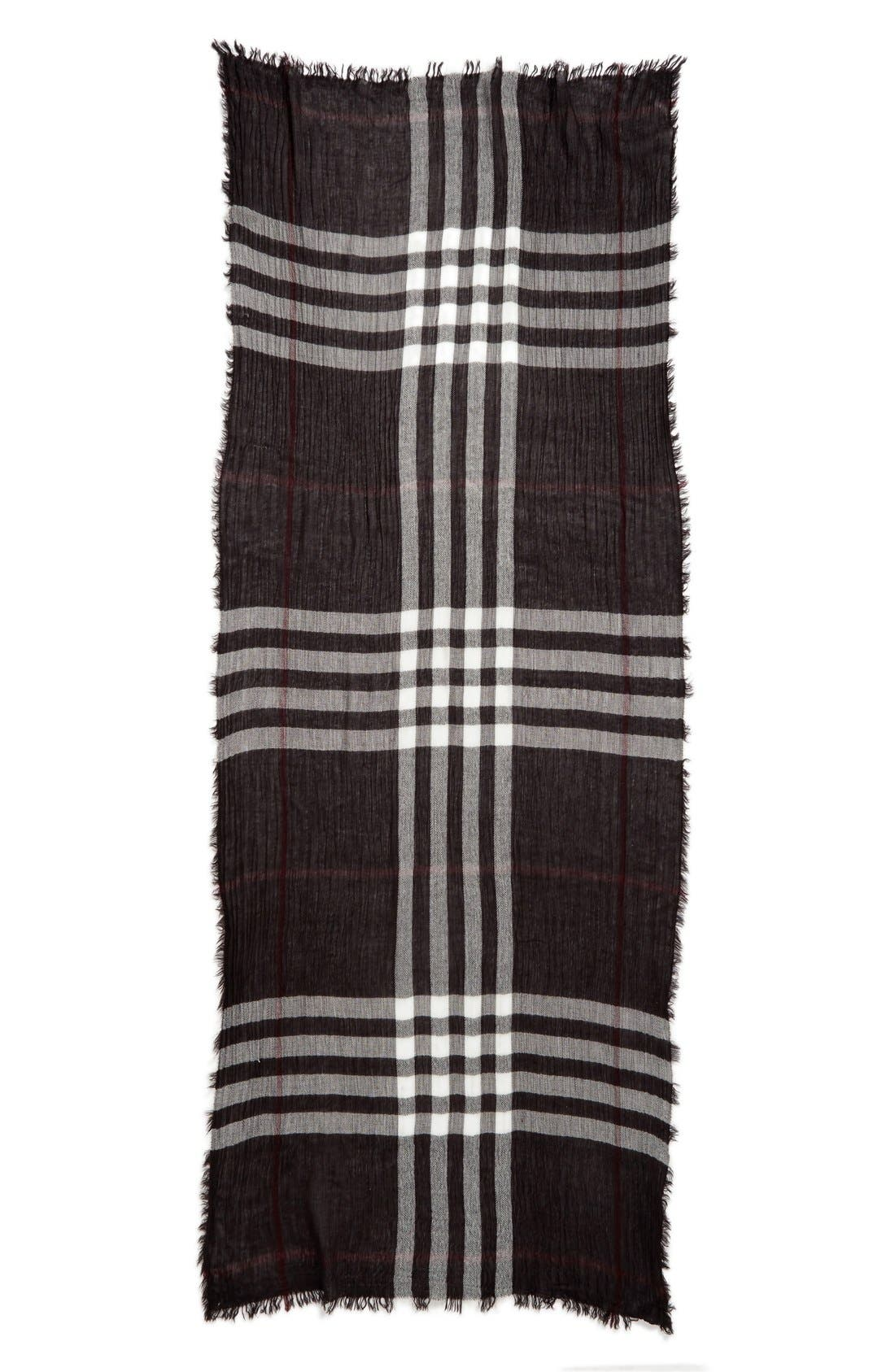 Plaid Oblong Scarf,                             Alternate thumbnail 2, color,                             025