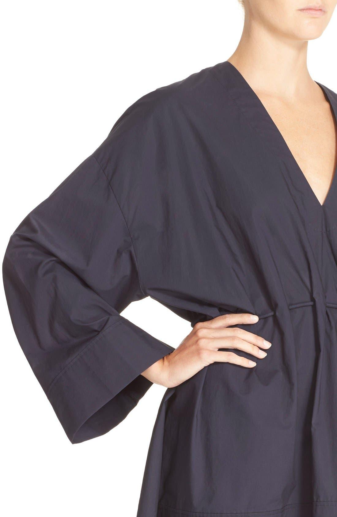 Calida Cotton Drawstring Dress,                             Alternate thumbnail 2, color,                             001