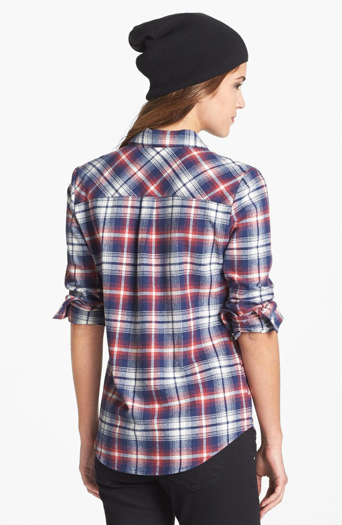 OLIVE & OAK,                             Plaid Flannel Shirt,                             Alternate thumbnail 2, color,                             641