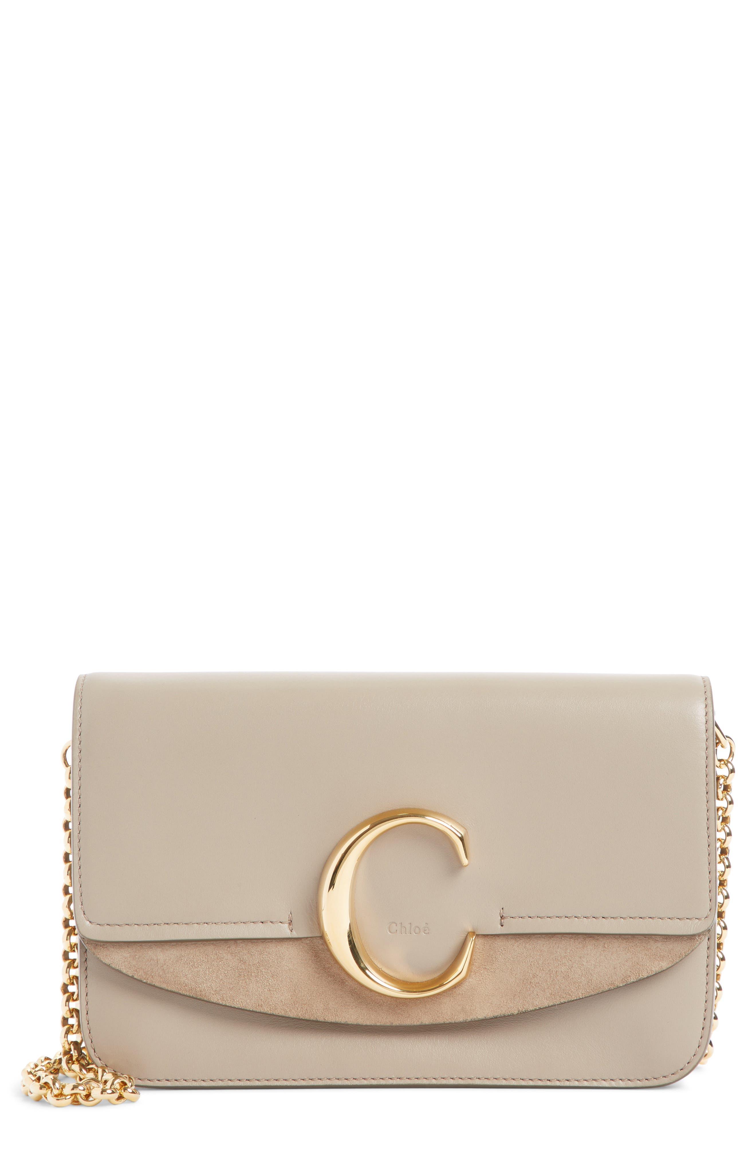 Mini Leather Shoulder Bag,                             Main thumbnail 1, color,                             MOTTY GREY