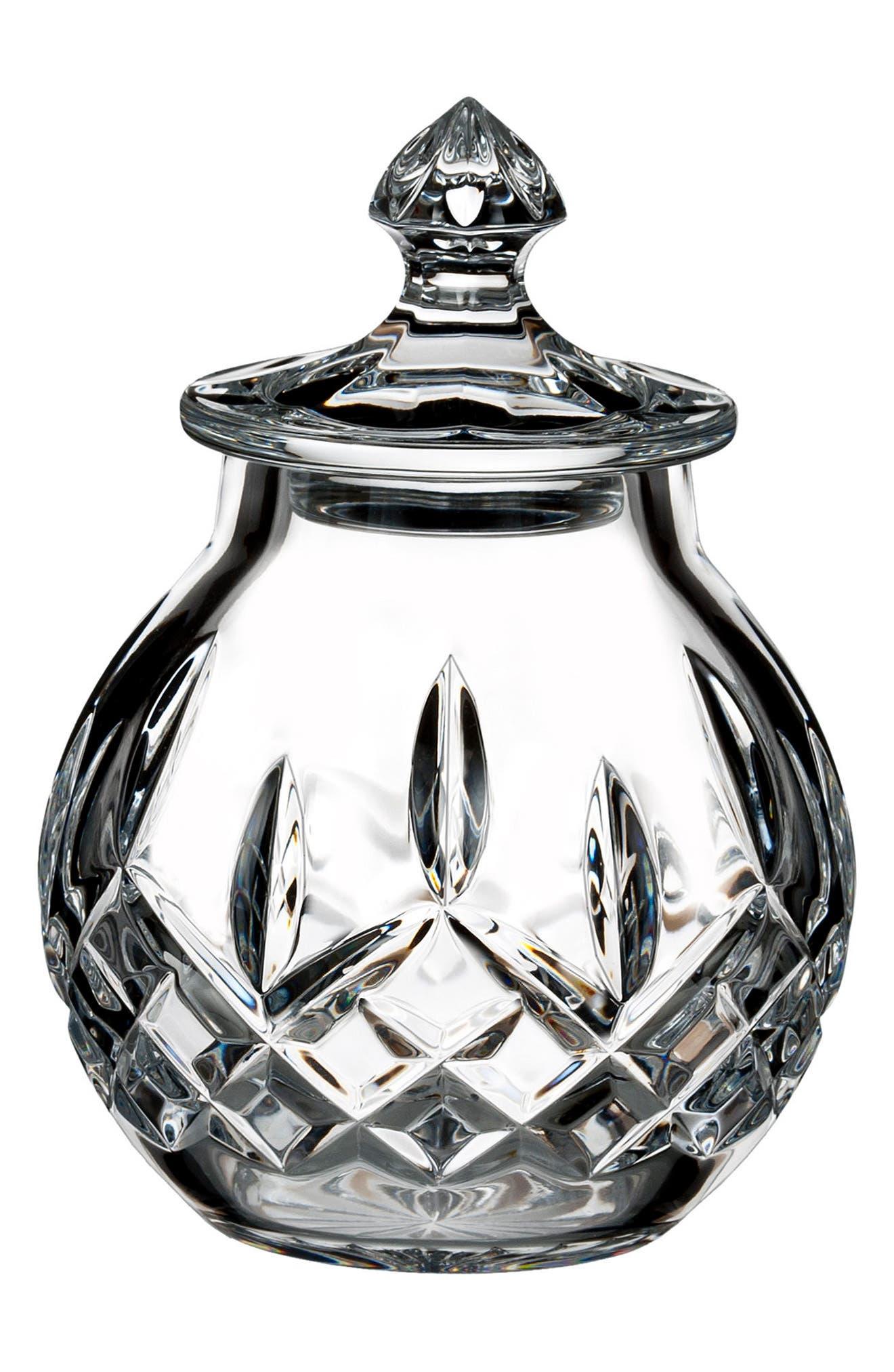 Lismore Small Lead Crystal Jar,                             Main thumbnail 1, color,