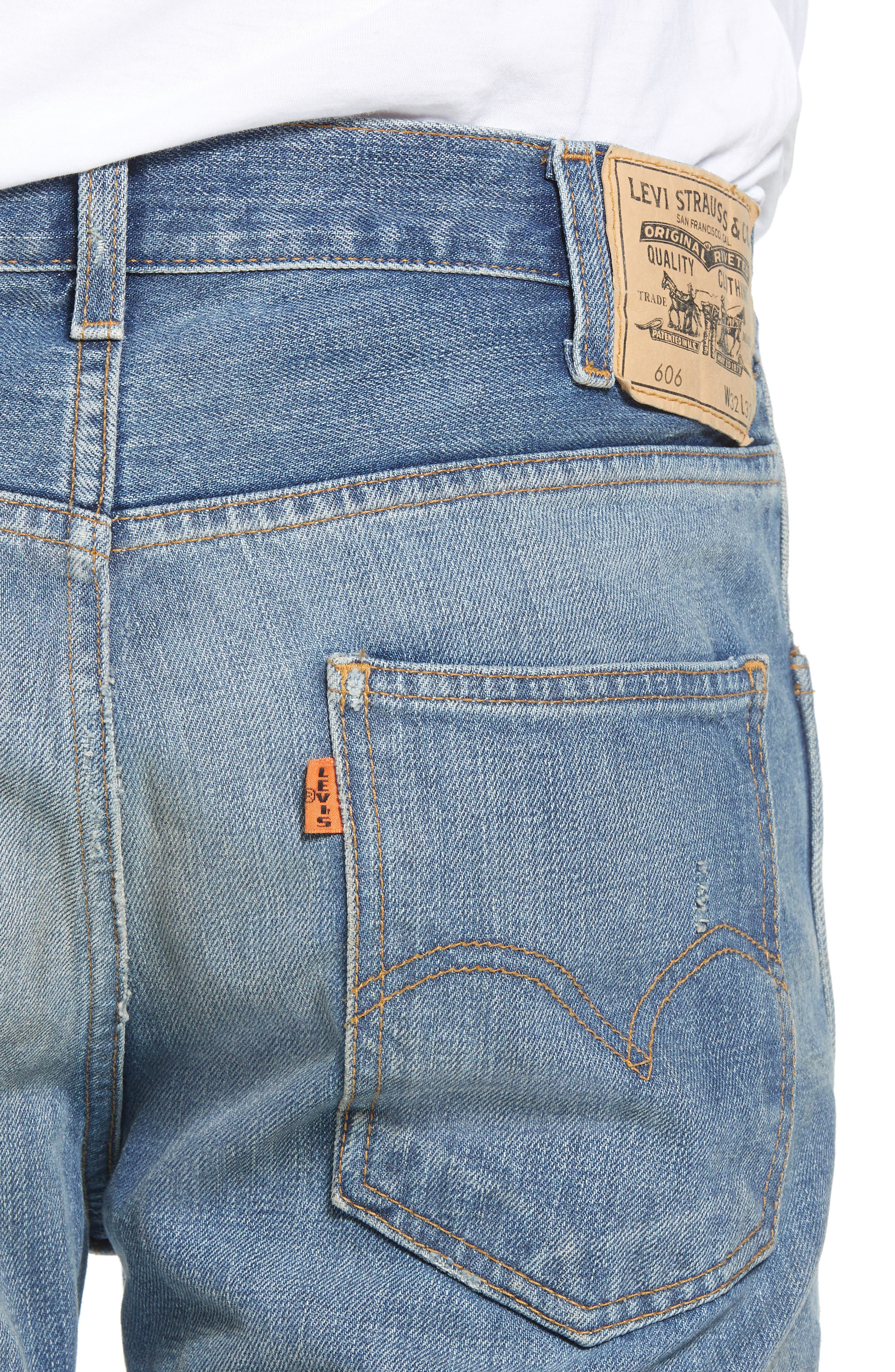 1969 606<sup>™</sup> Slim Fit Jeans,                             Alternate thumbnail 4, color,                             401