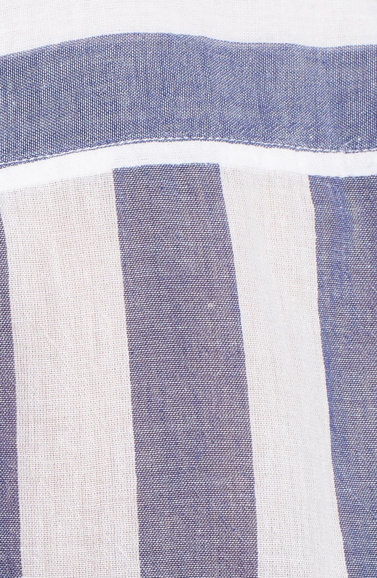 Stripe Tie Back Crinkle Cotton Top,                             Alternate thumbnail 6, color,                             460
