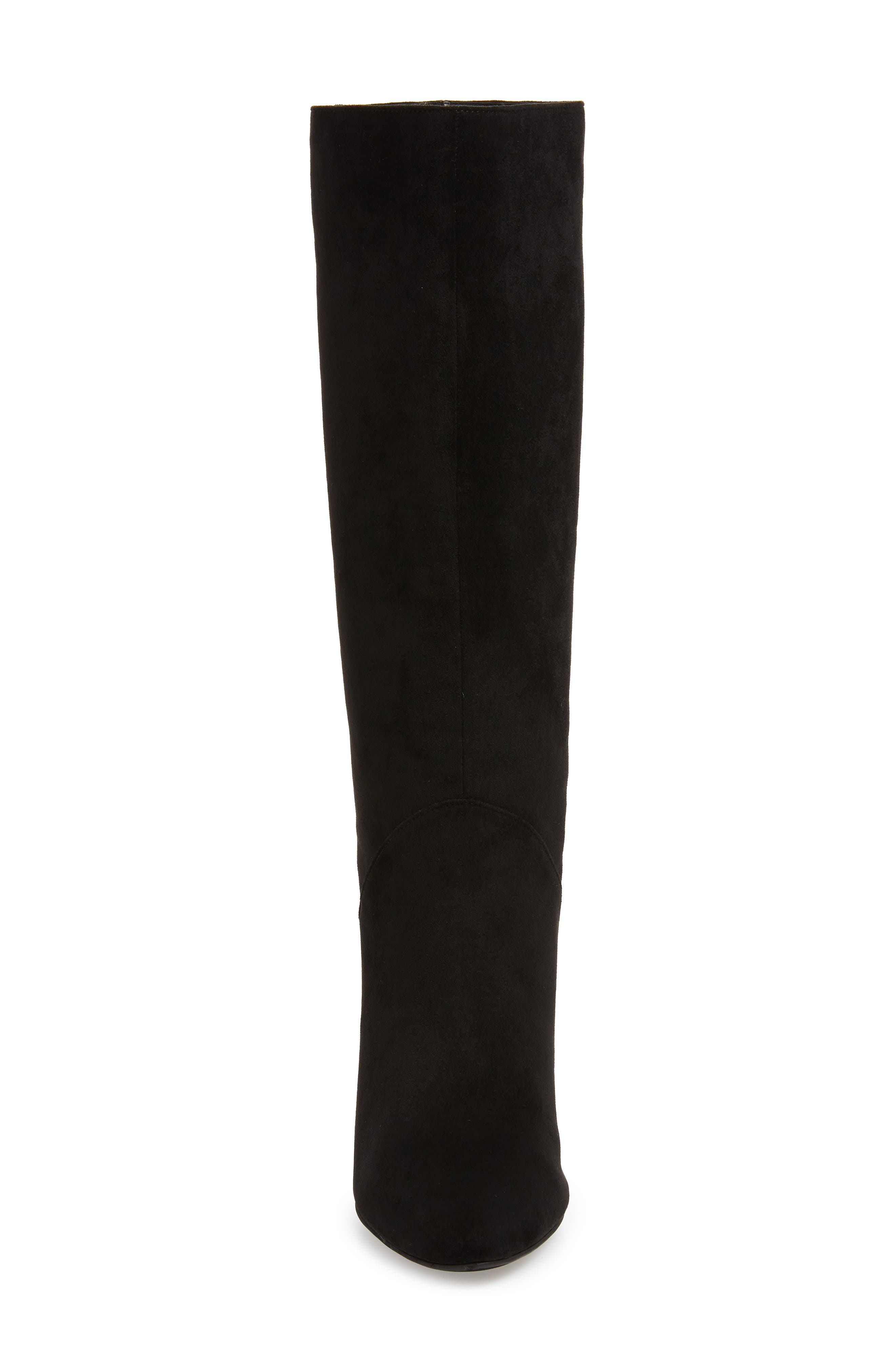 Jeffery Campbell Candle Knee High Boot,                             Alternate thumbnail 4, color,                             BLACK FAUX SUEDE