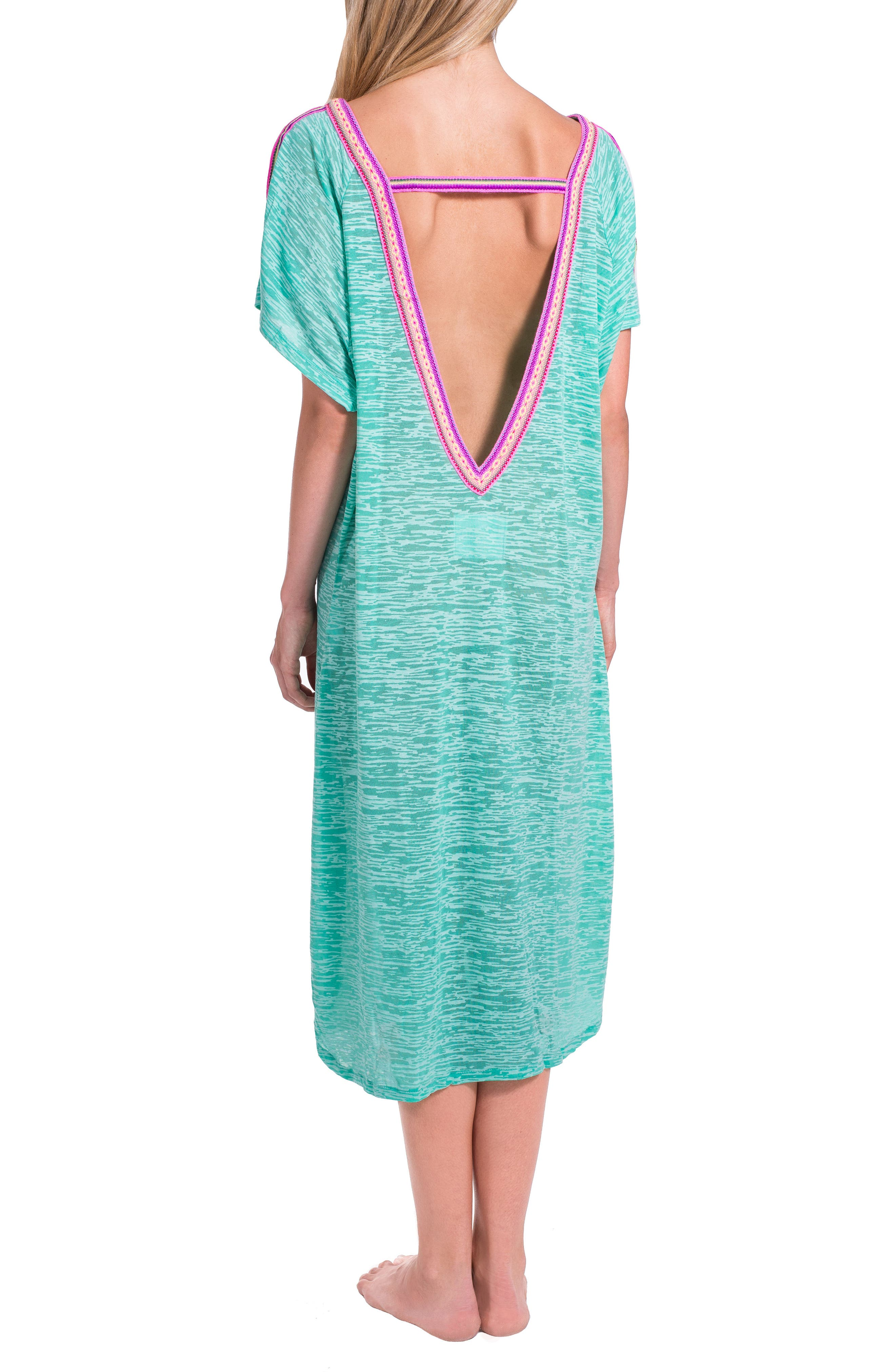 Cover-Up Midi Dress,                             Alternate thumbnail 7, color,