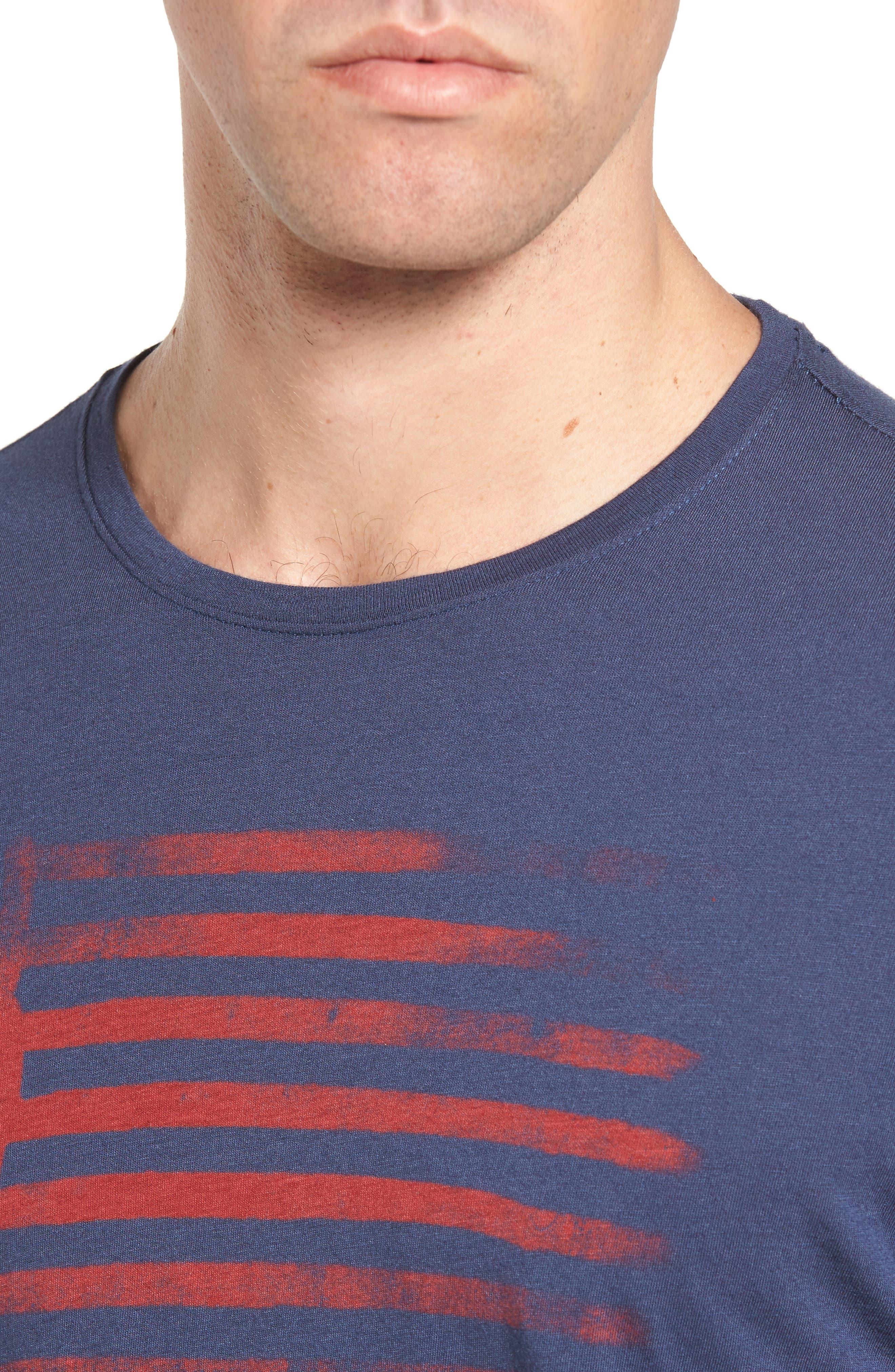 Peace Flag Graphic T-Shirt,                             Alternate thumbnail 4, color,                             473