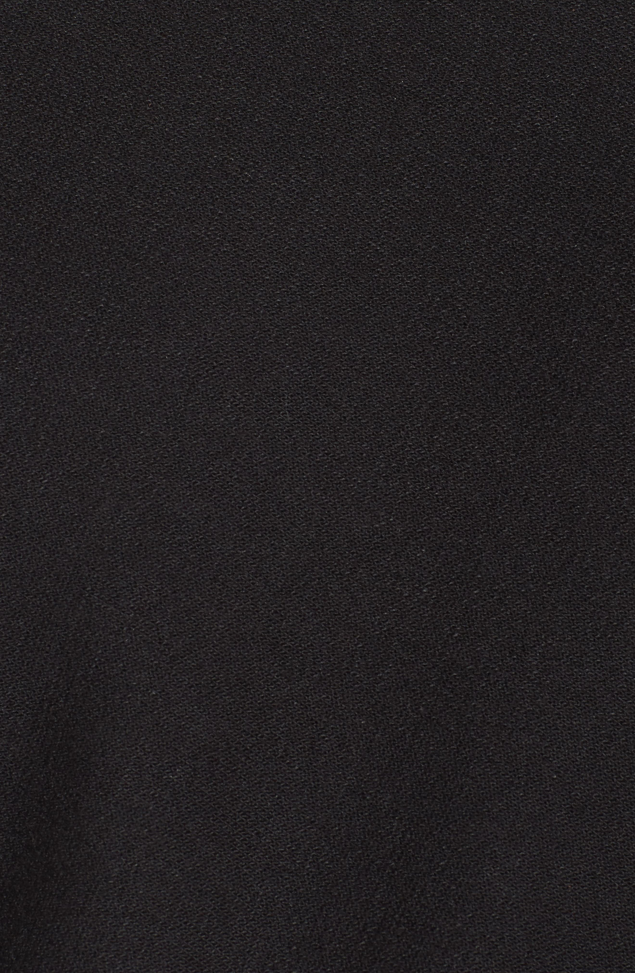 Soleil Funnel Neck Crop Pullover,                             Alternate thumbnail 6, color,                             001