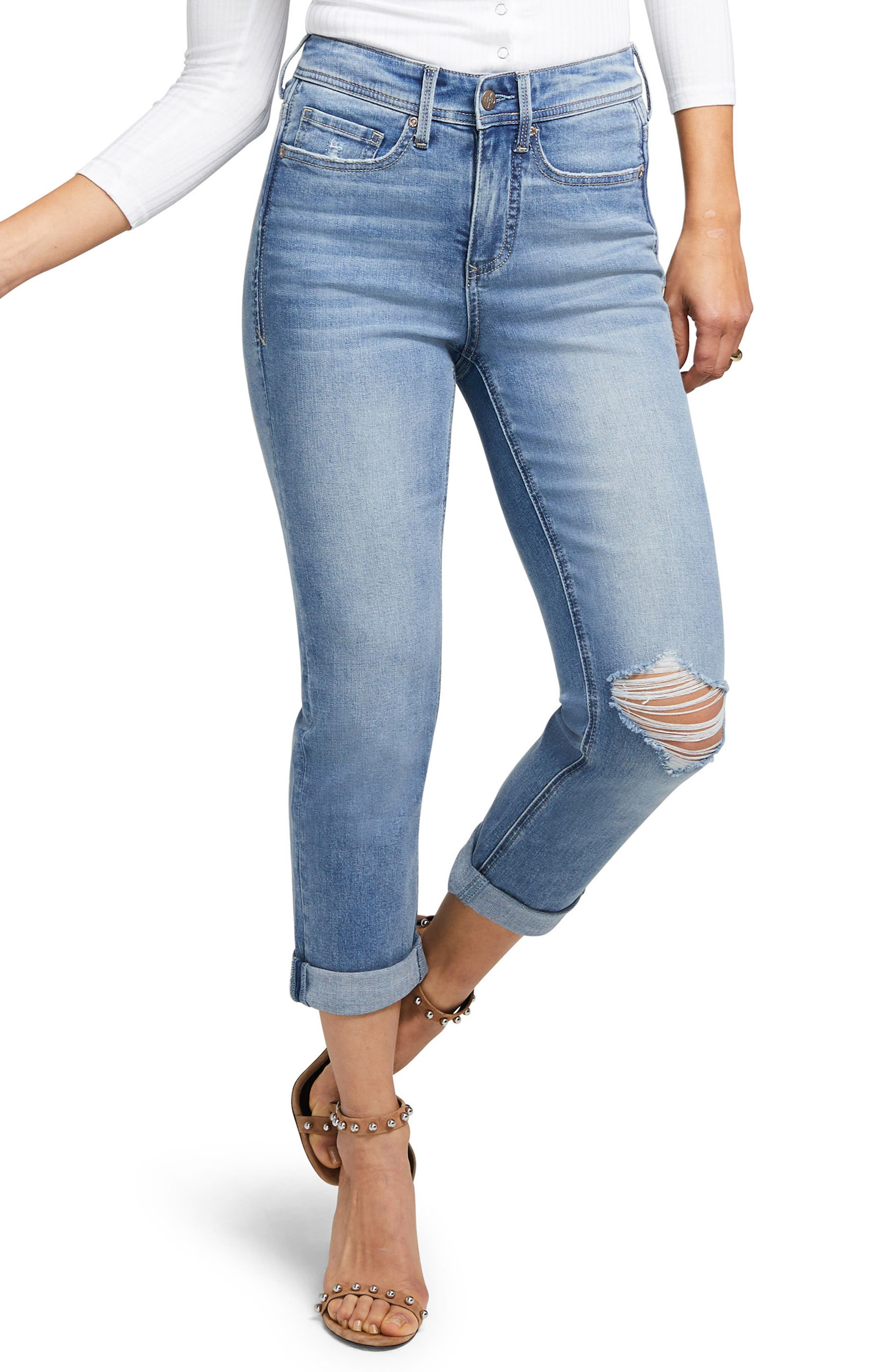 Slim Straight Crop Jeans,                             Main thumbnail 1, color,                             416