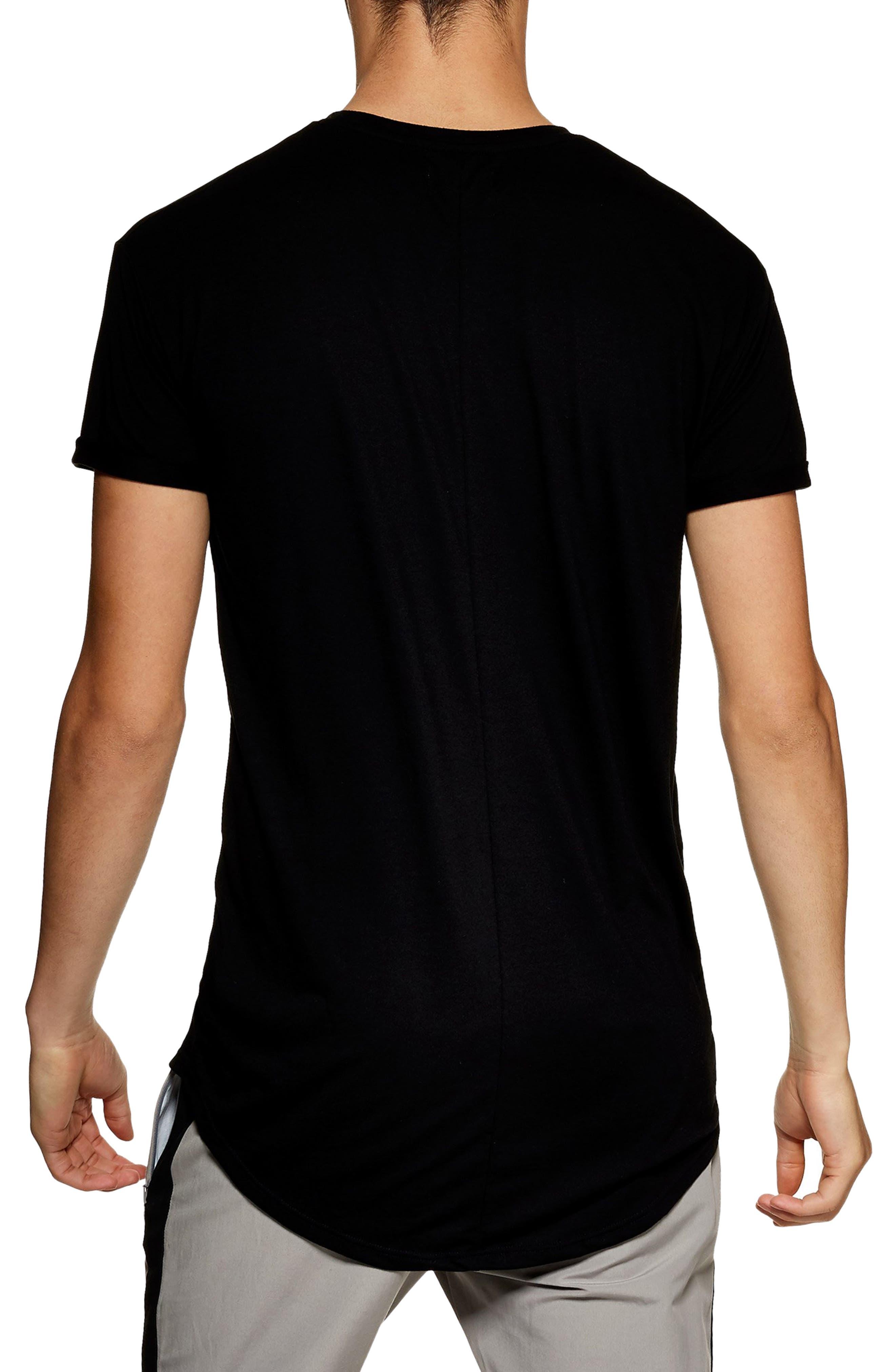 Scotty Longline T-Shirt,                             Alternate thumbnail 2, color,                             BLACK
