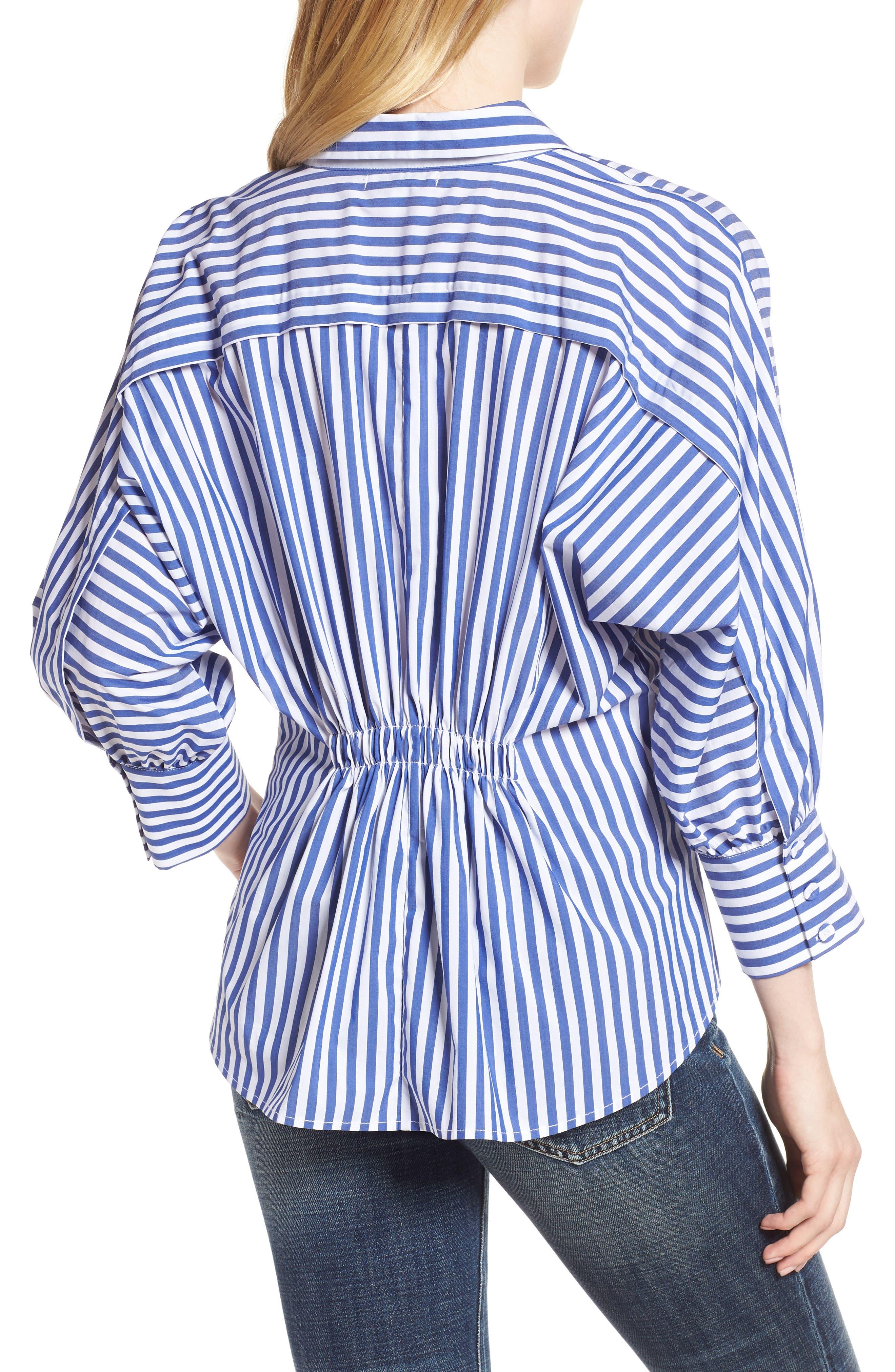 Asymmetrical Stripe Blouse,                             Alternate thumbnail 2, color,                             495