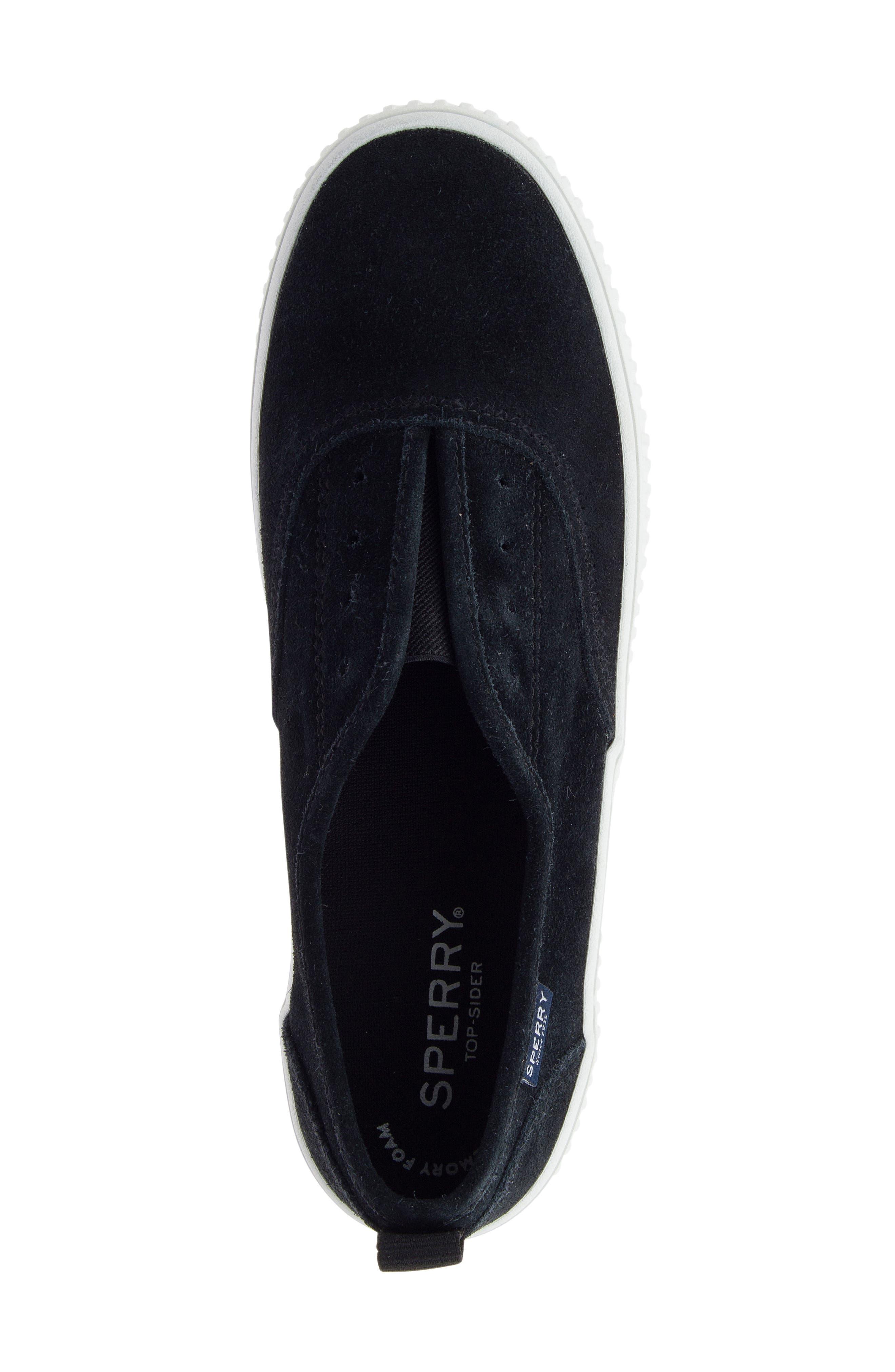 Crest Creeper Slip-On Sneaker,                             Alternate thumbnail 4, color,                             001