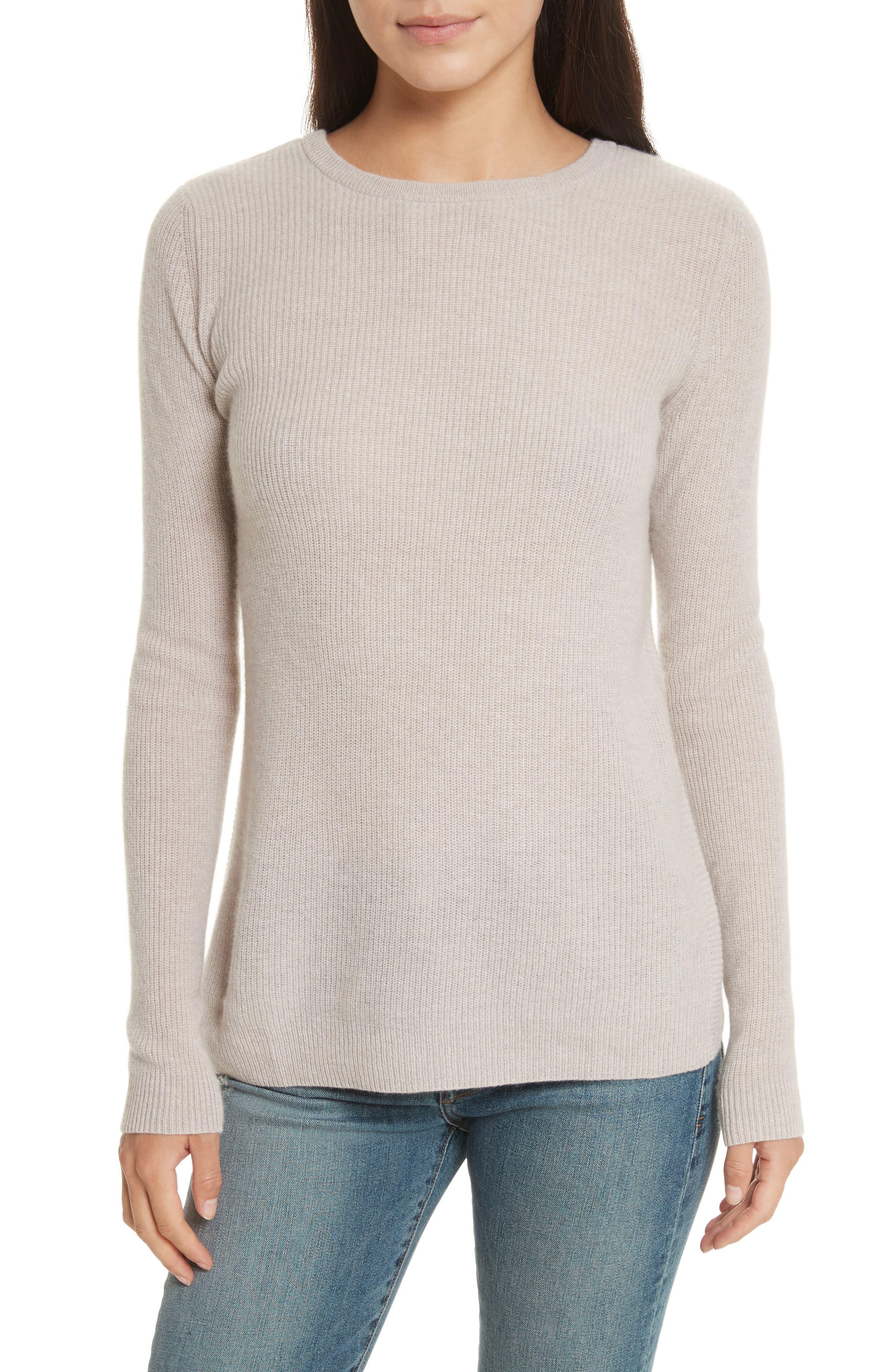 Cashmere Reversible Surplice Sweater,                             Main thumbnail 2, color,