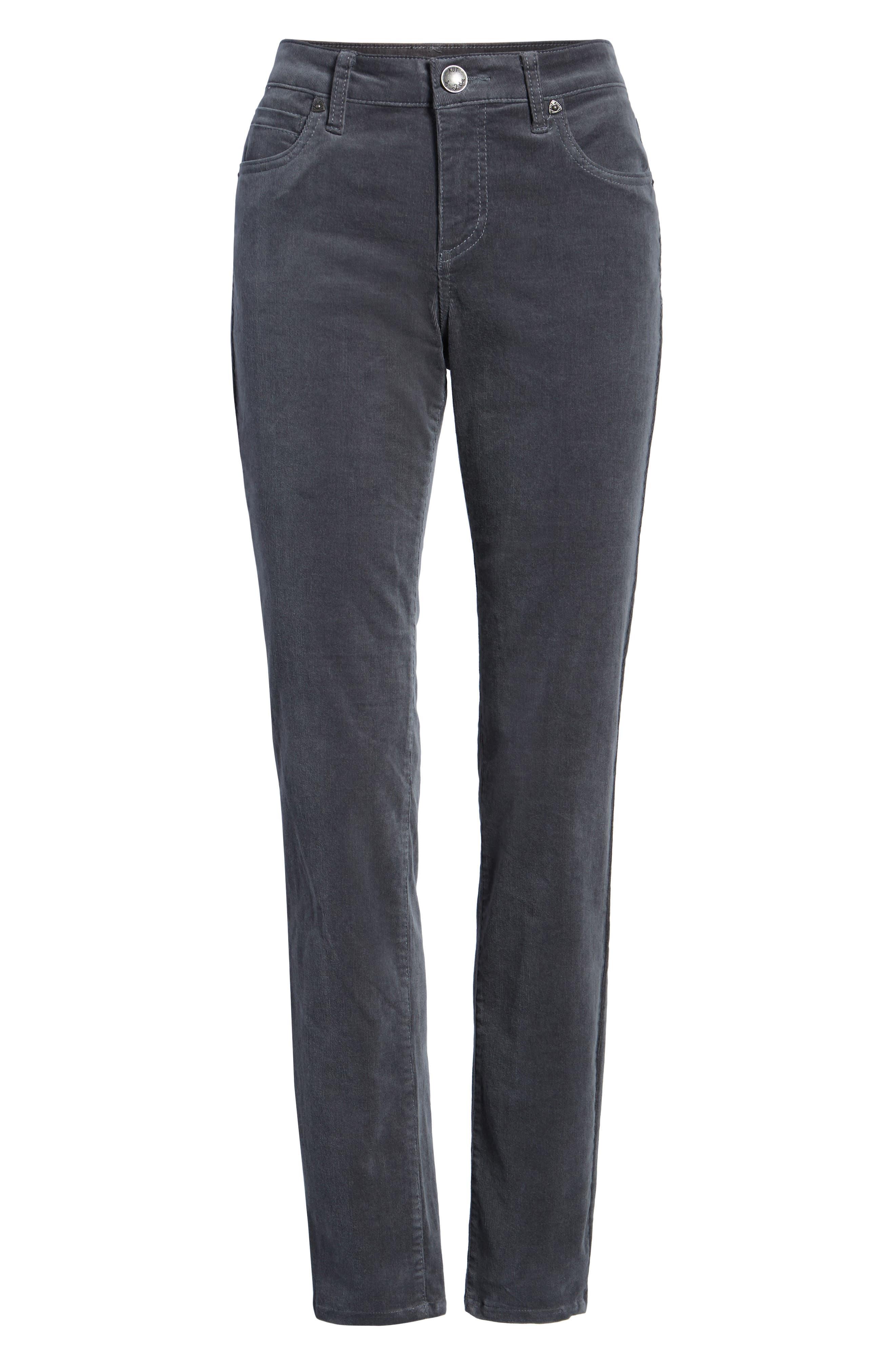 'Diana' Stretch Corduroy Skinny Pants,                             Alternate thumbnail 258, color,
