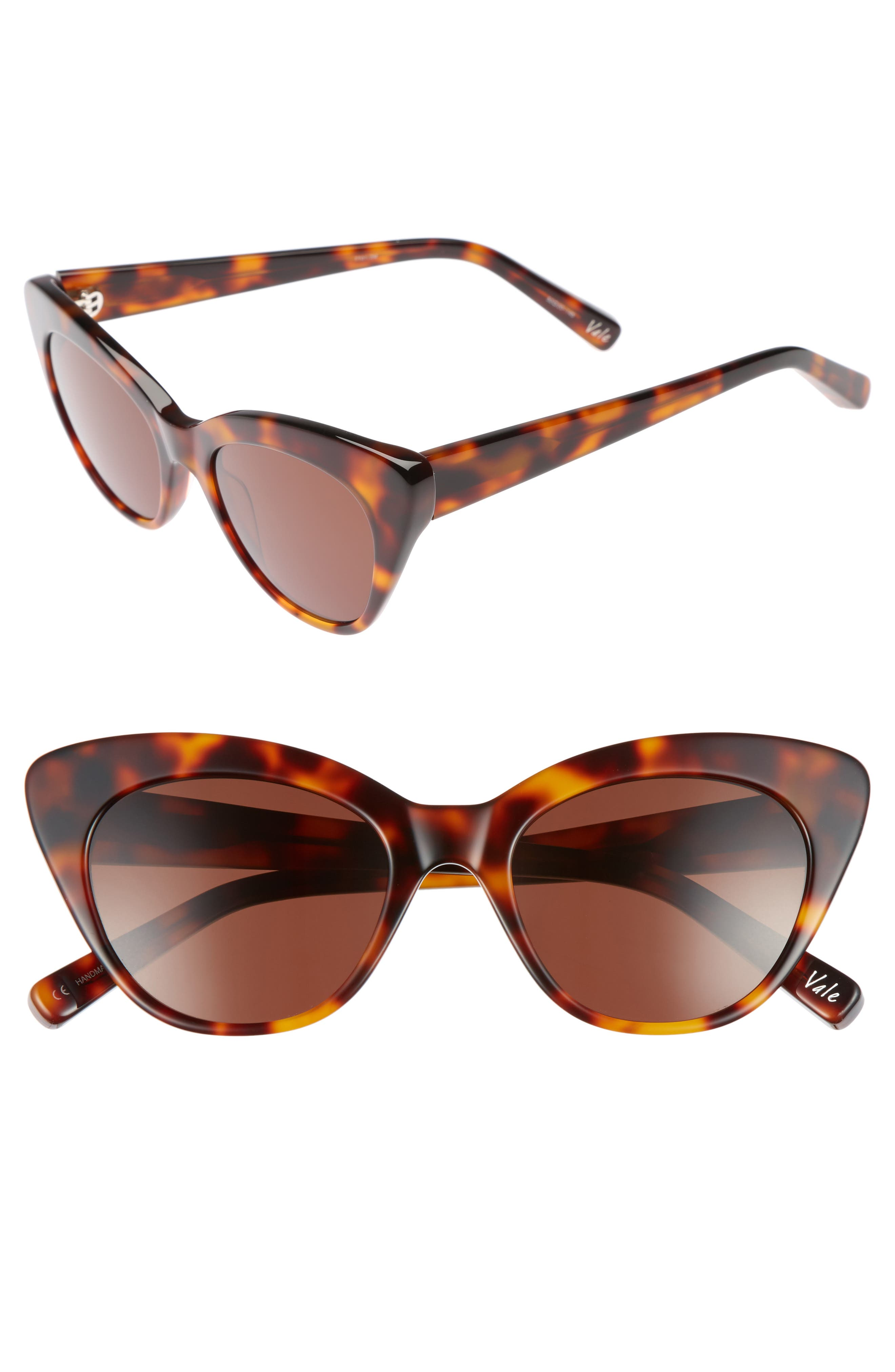 Vale 52mm Cat Eye Sunglasses,                             Main thumbnail 2, color,