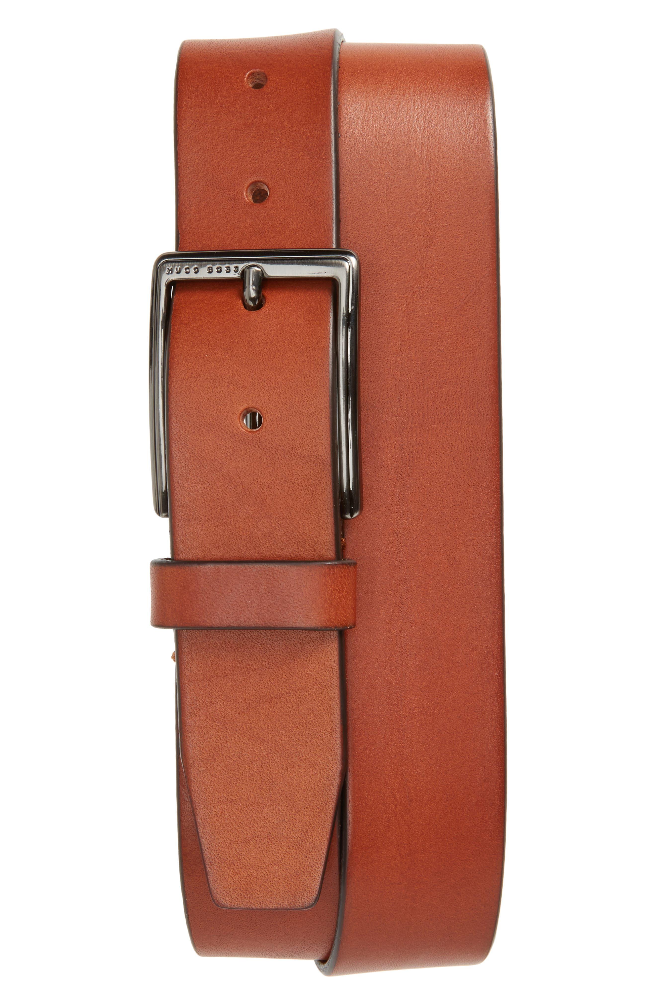 Sammyo Leather Belt,                             Main thumbnail 1, color,