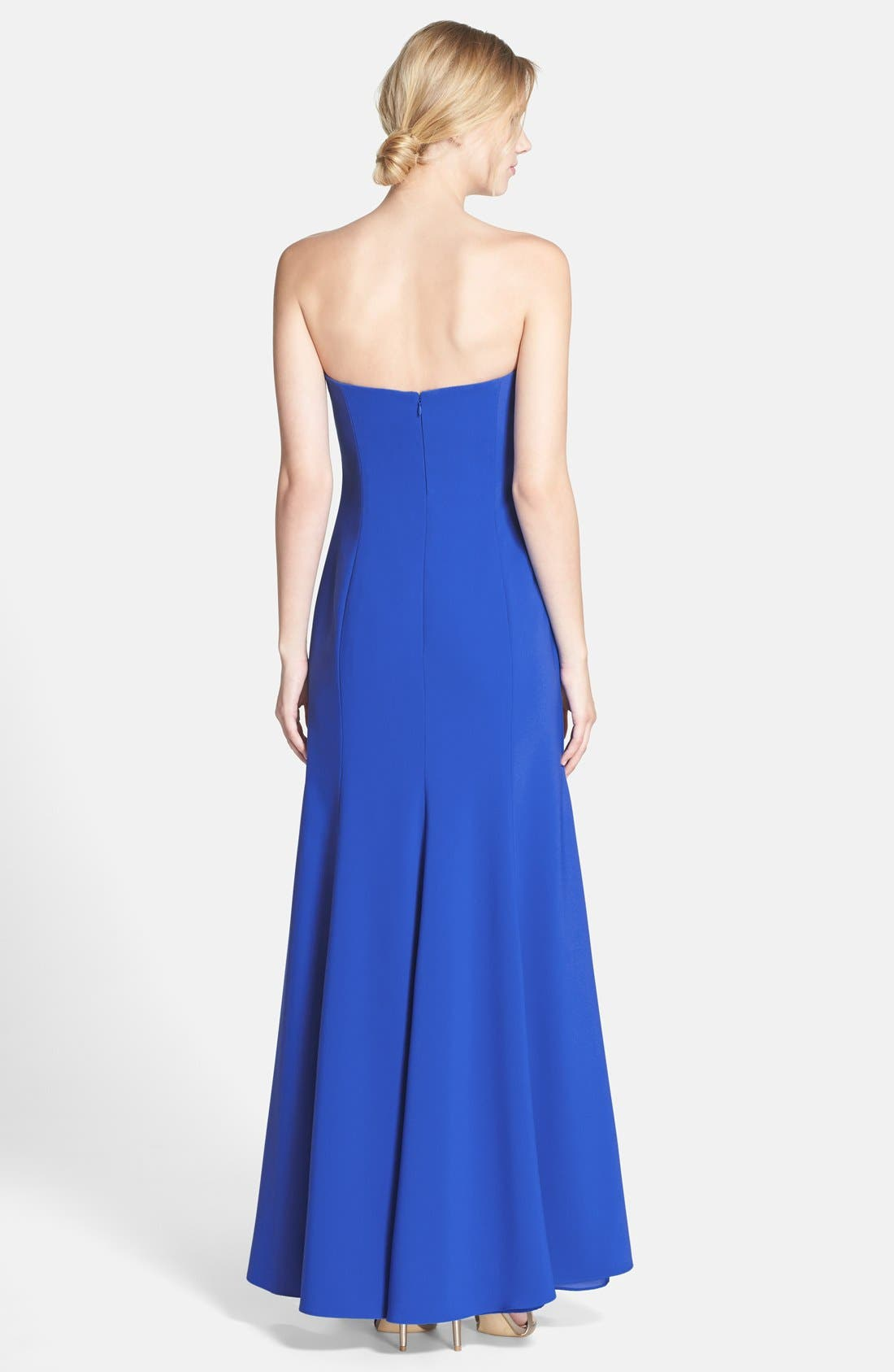 Strapless Crepe Trumpet Gown,                             Alternate thumbnail 11, color,