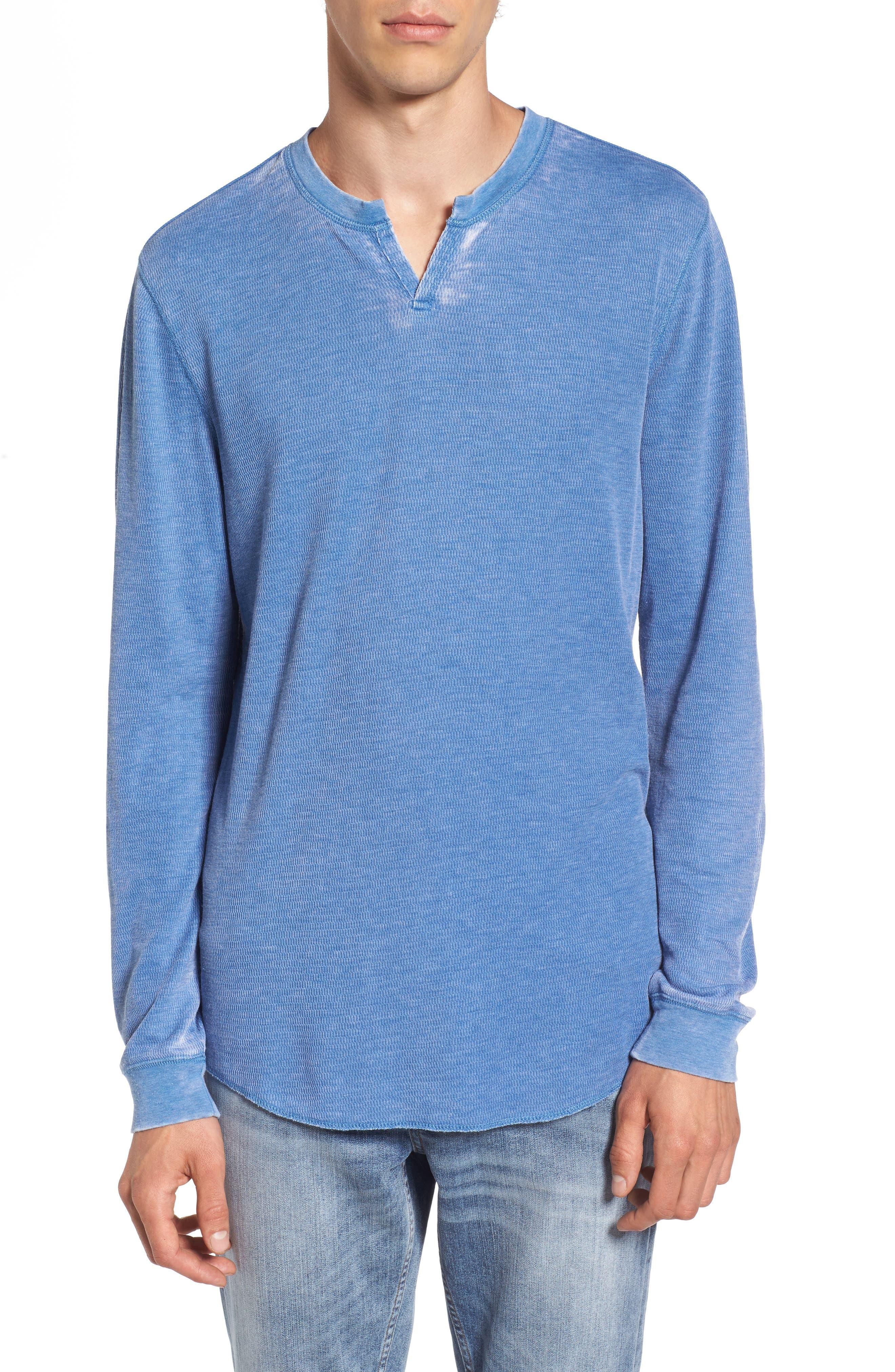 Notch Neck Thermal T-Shirt,                             Main thumbnail 4, color,