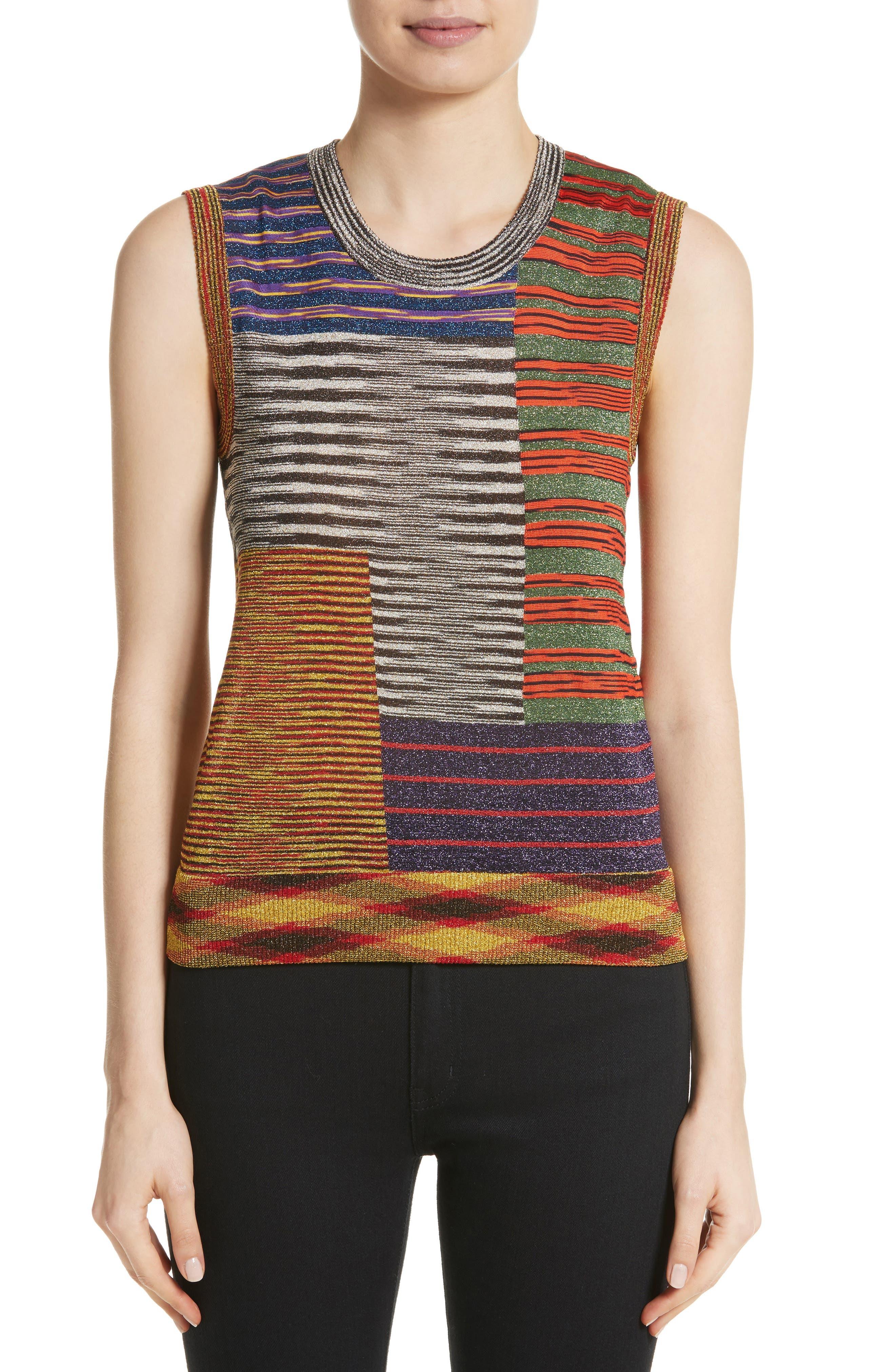 Stripe Space Dye Knit Tank,                             Main thumbnail 1, color,                             540