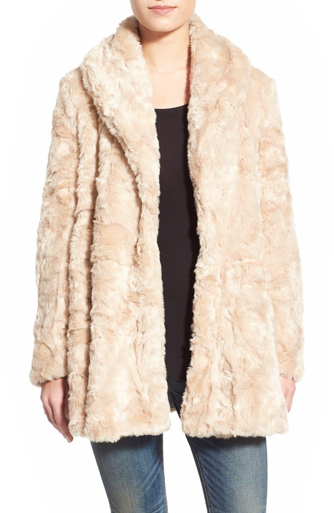 Swingy Faux Fur Jacket, Main, color, 650