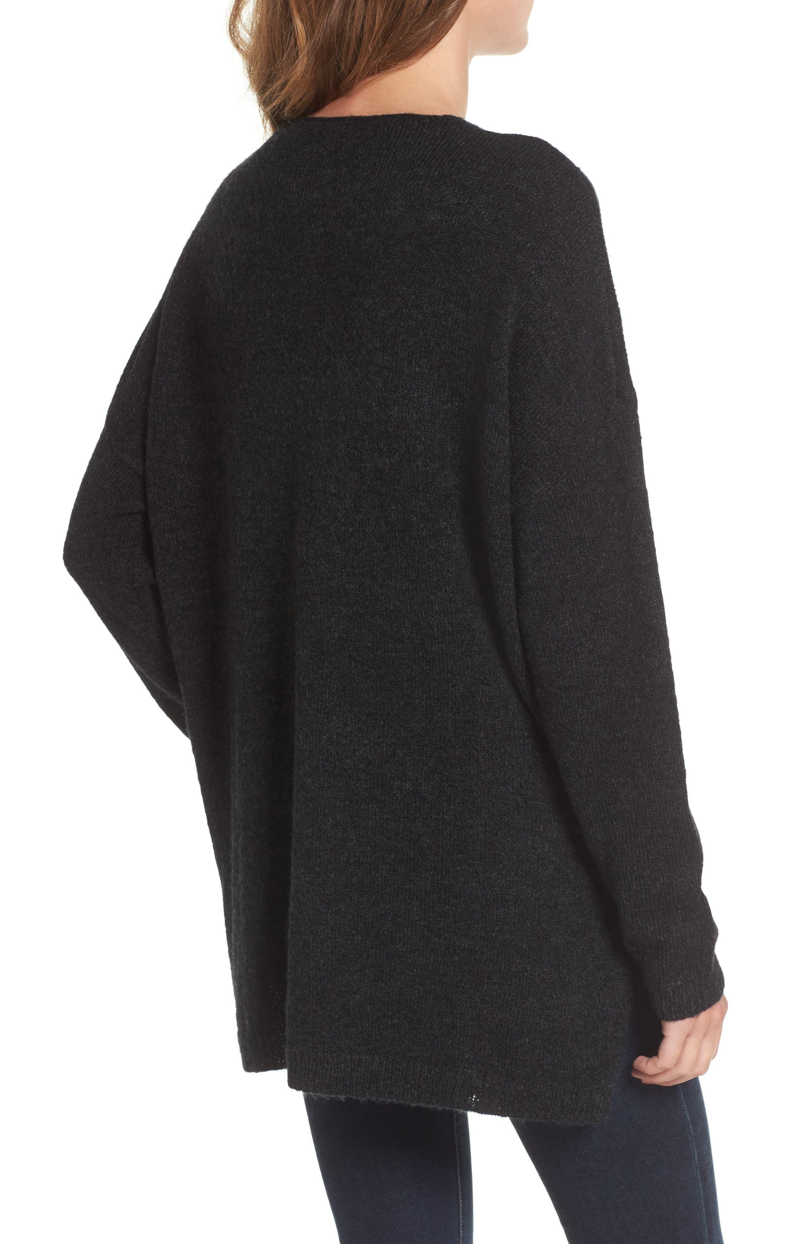 Exposed Seam Tunic Sweater,                             Alternate thumbnail 2, color,                             001