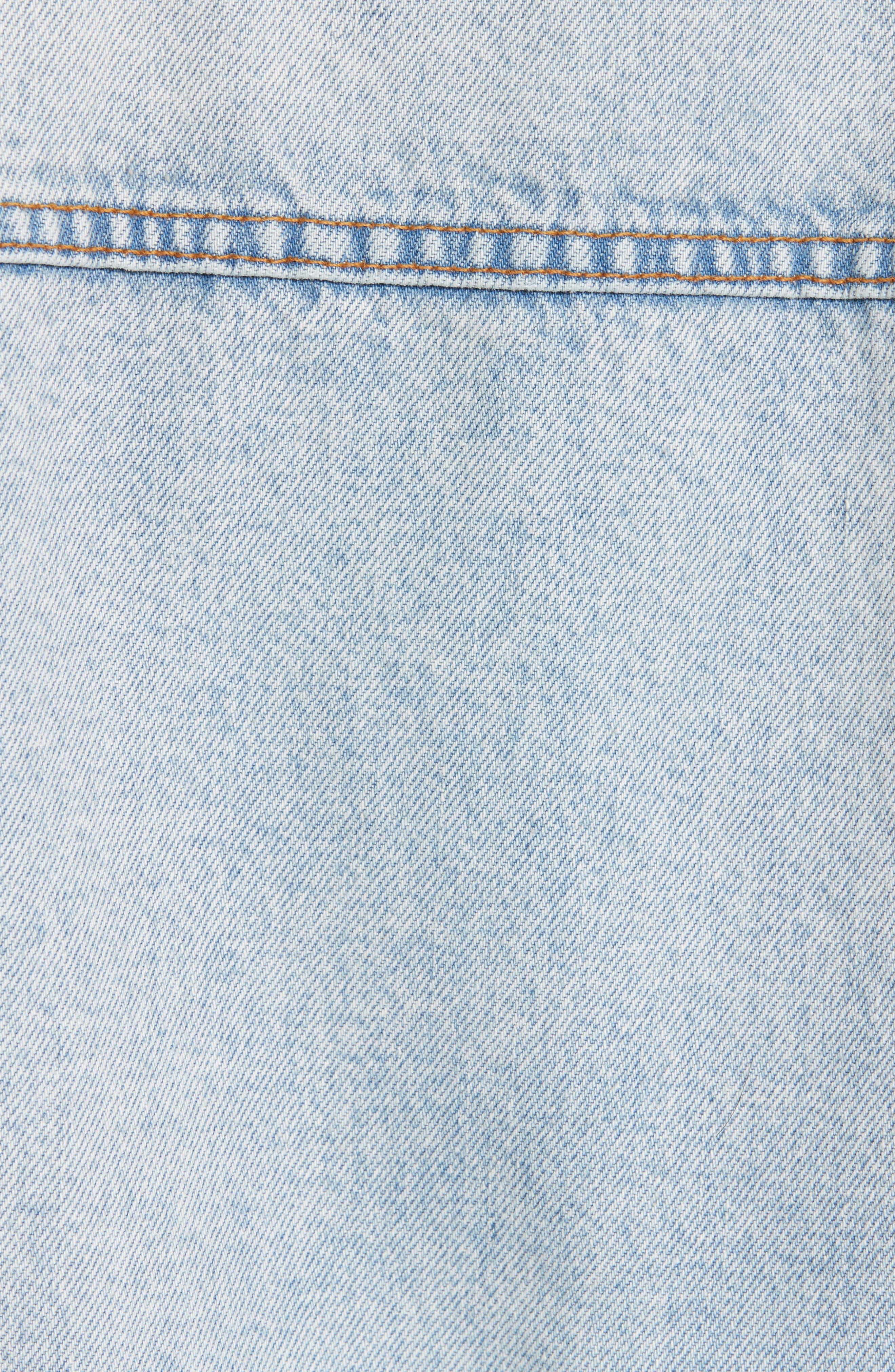 Denim x Alexander Wang Daze Bleach Oversize Denim Jacket,                             Alternate thumbnail 5, color,