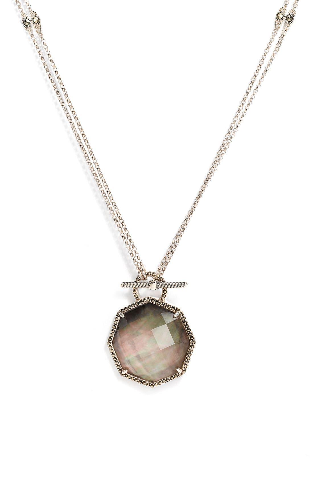 'Medallions' Semiprecious Convertible Necklace,                             Main thumbnail 1, color,                             001