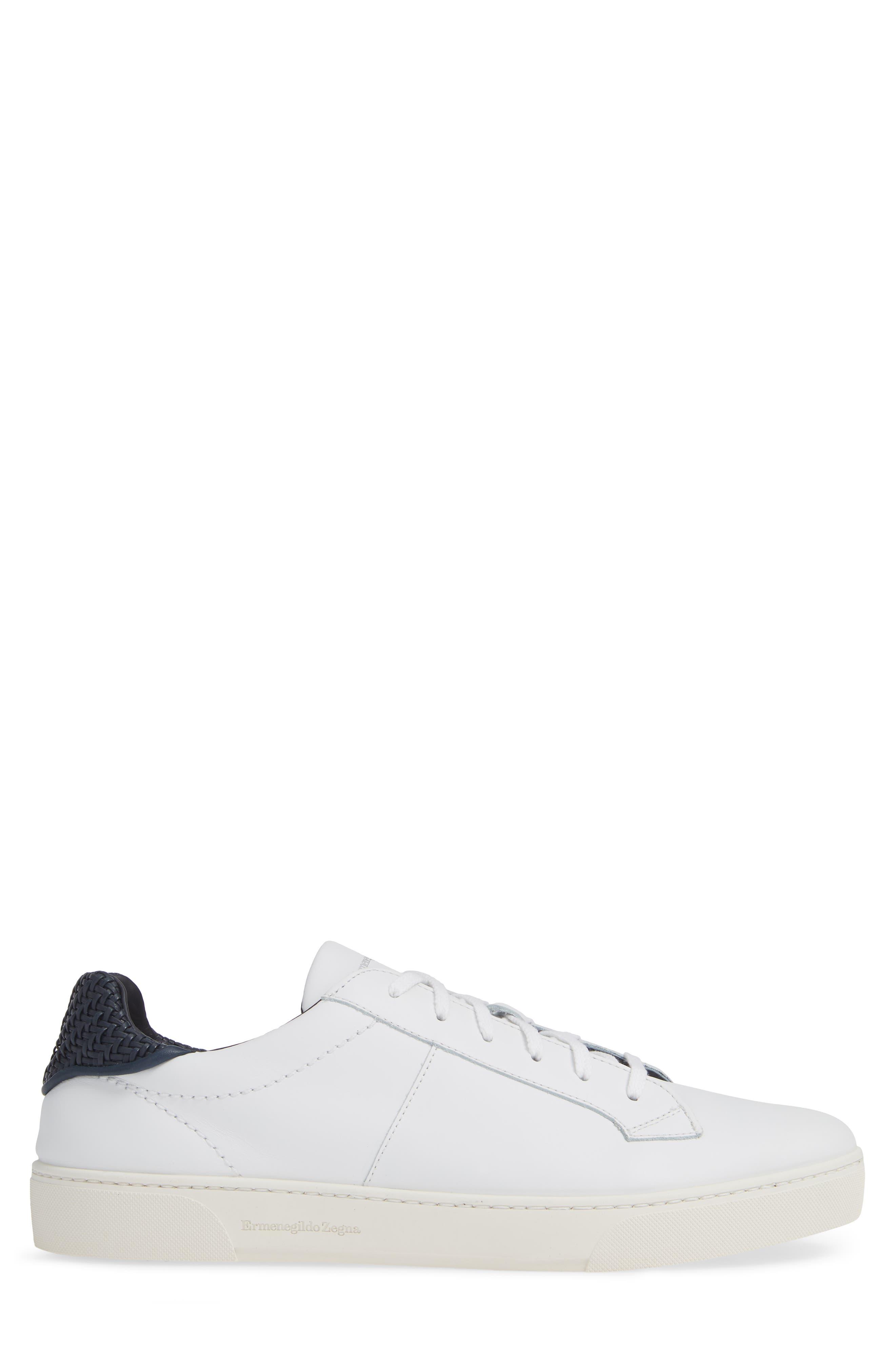 Sneaker,                             Alternate thumbnail 3, color,                             WHITE/ BLUE
