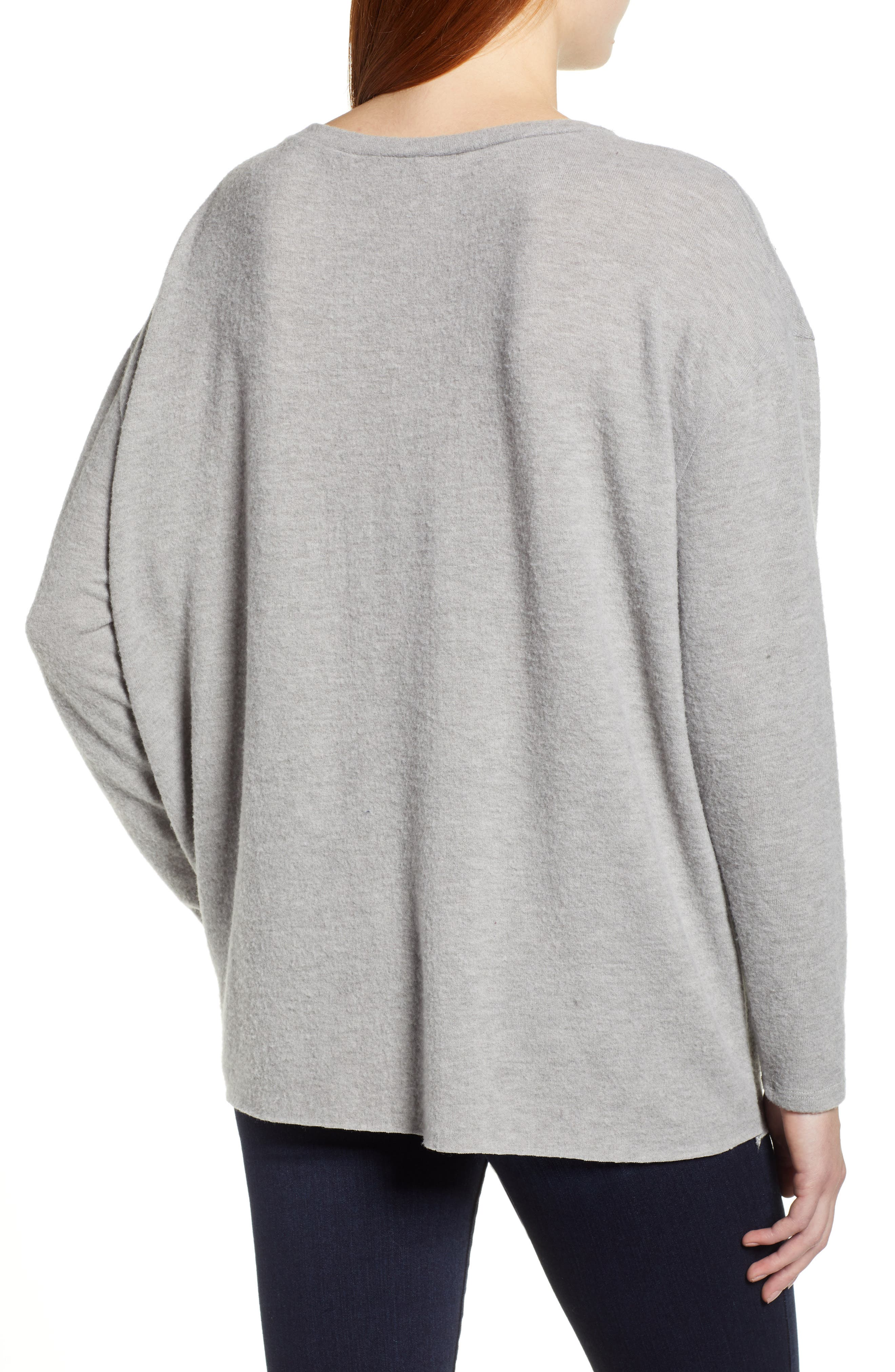 CASLON<SUP>®</SUP>,                             Tie Front Sweatshirt,                             Alternate thumbnail 2, color,                             030