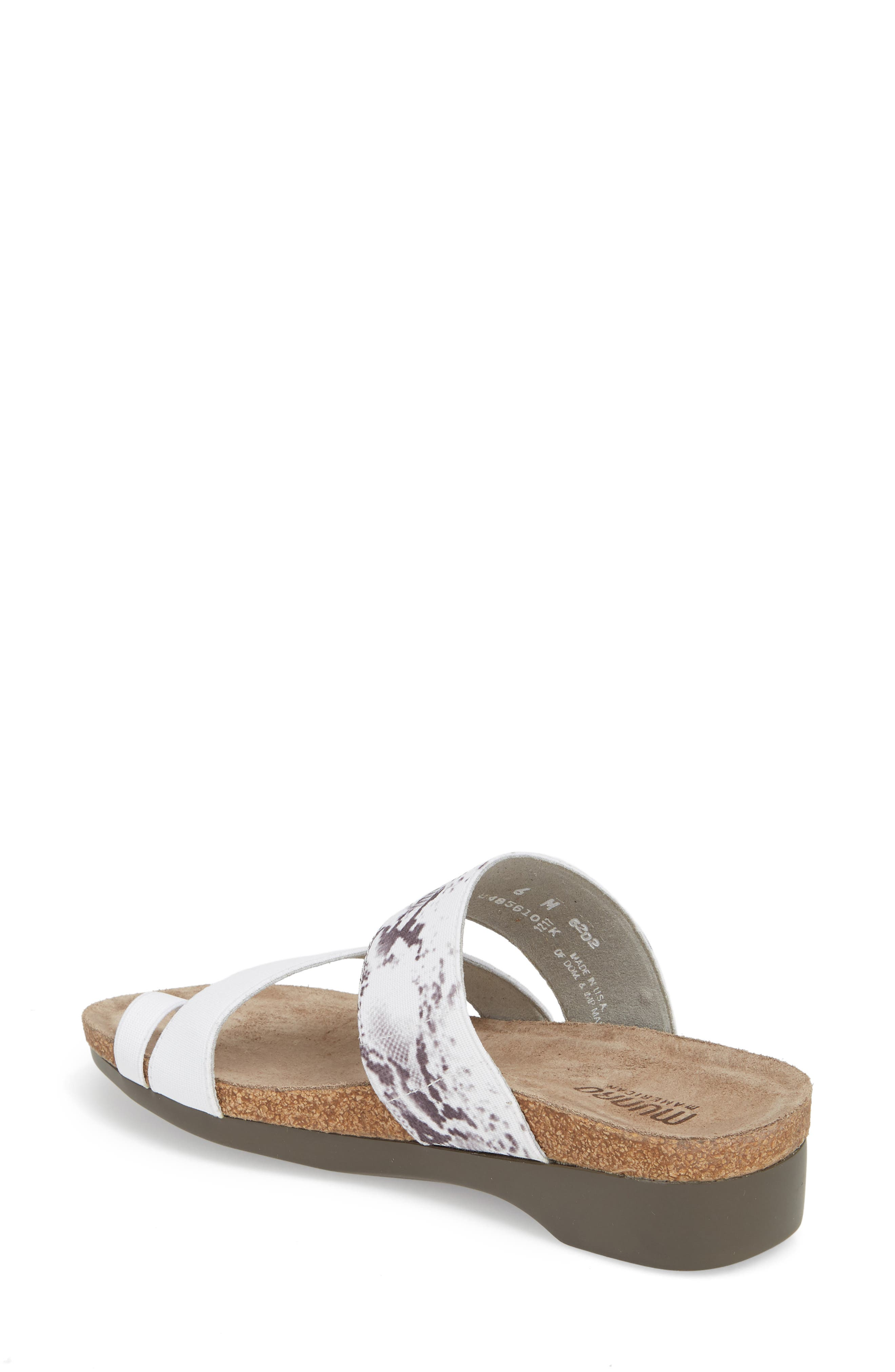 'Aries' Sandal,                             Alternate thumbnail 2, color,                             WHITE SNAKE PRINT LEATHER