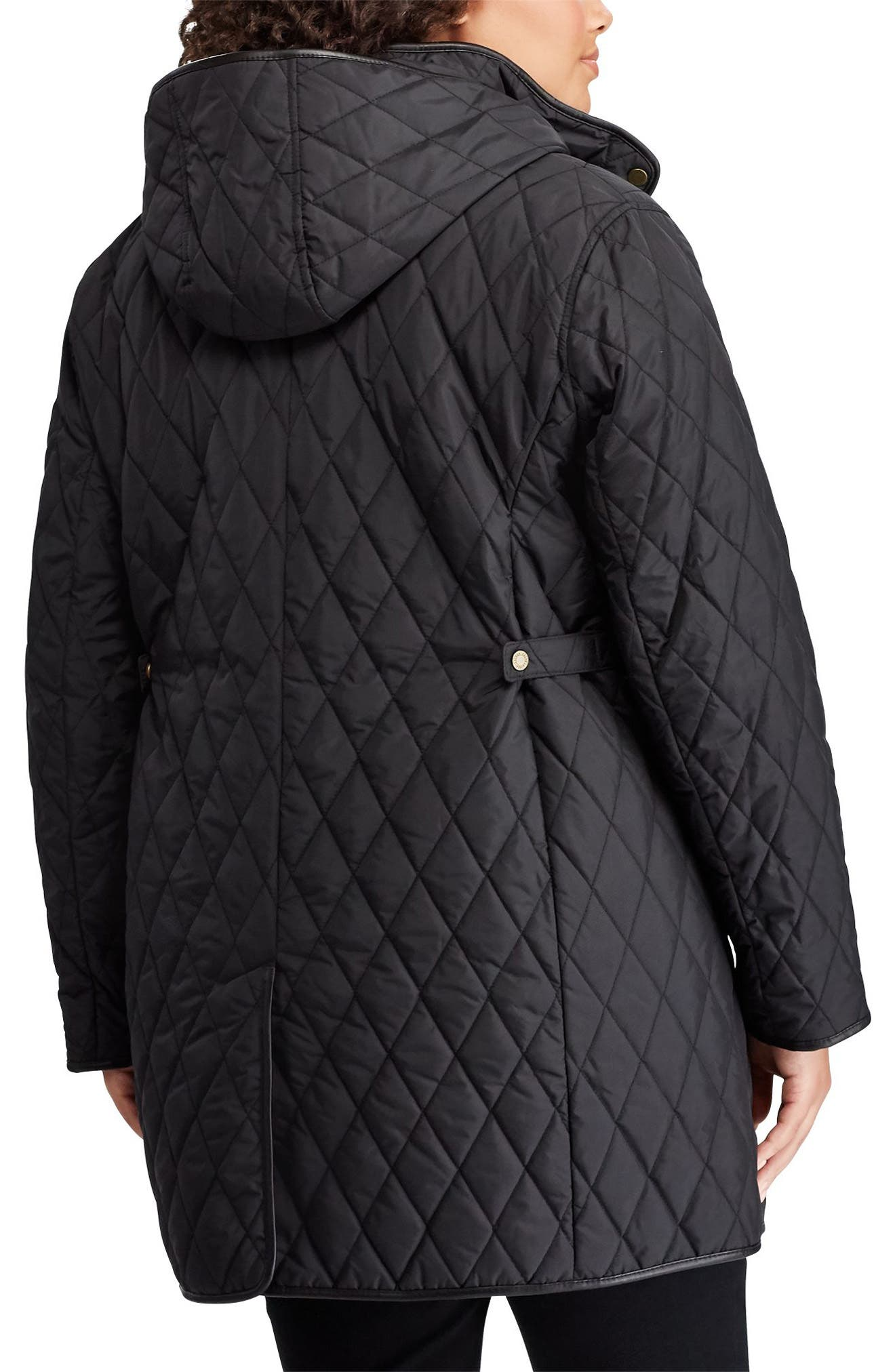 Quilted Coat,                             Alternate thumbnail 2, color,                             BLACK