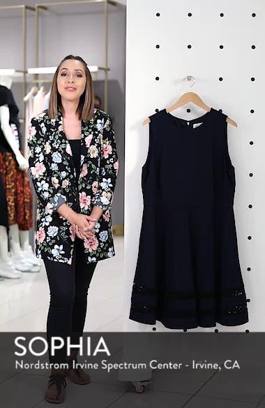 Lace Trim Fit & Flare Dress, sales video thumbnail