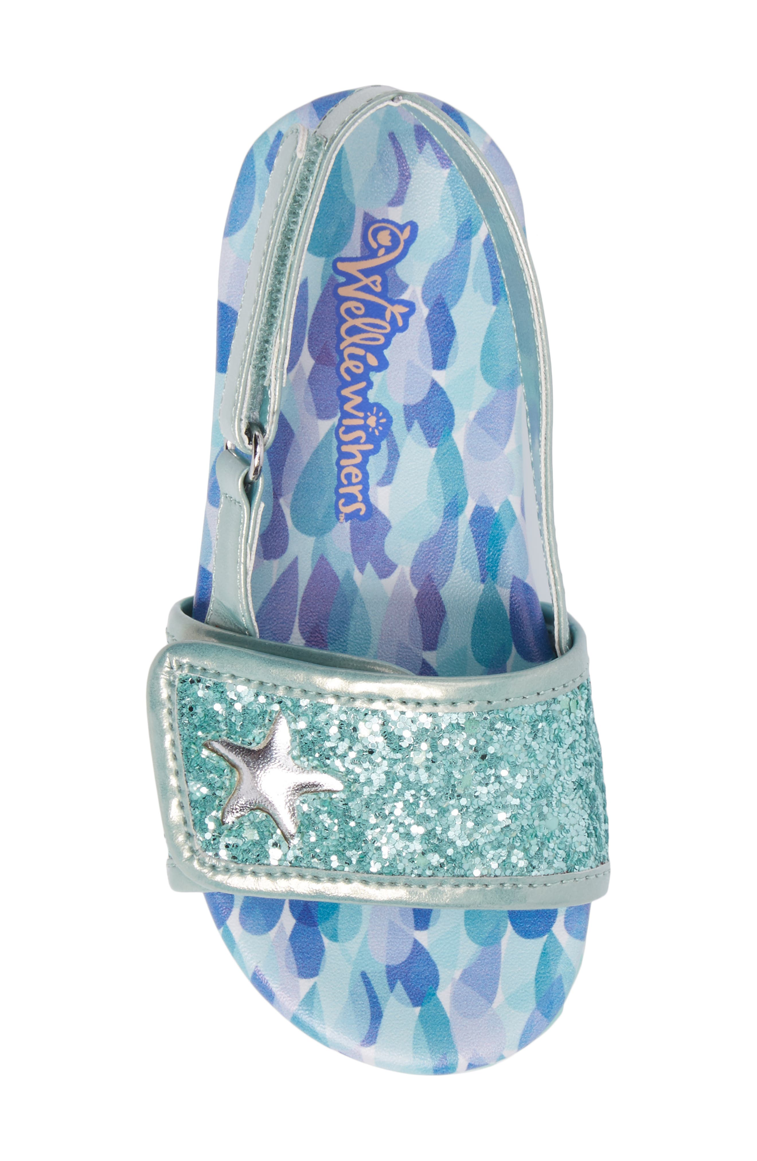 WELLIEWISHERS FROM AMERICAN GIRL,                             Camille Raindrop Strap Sandal,                             Alternate thumbnail 5, color,                             300
