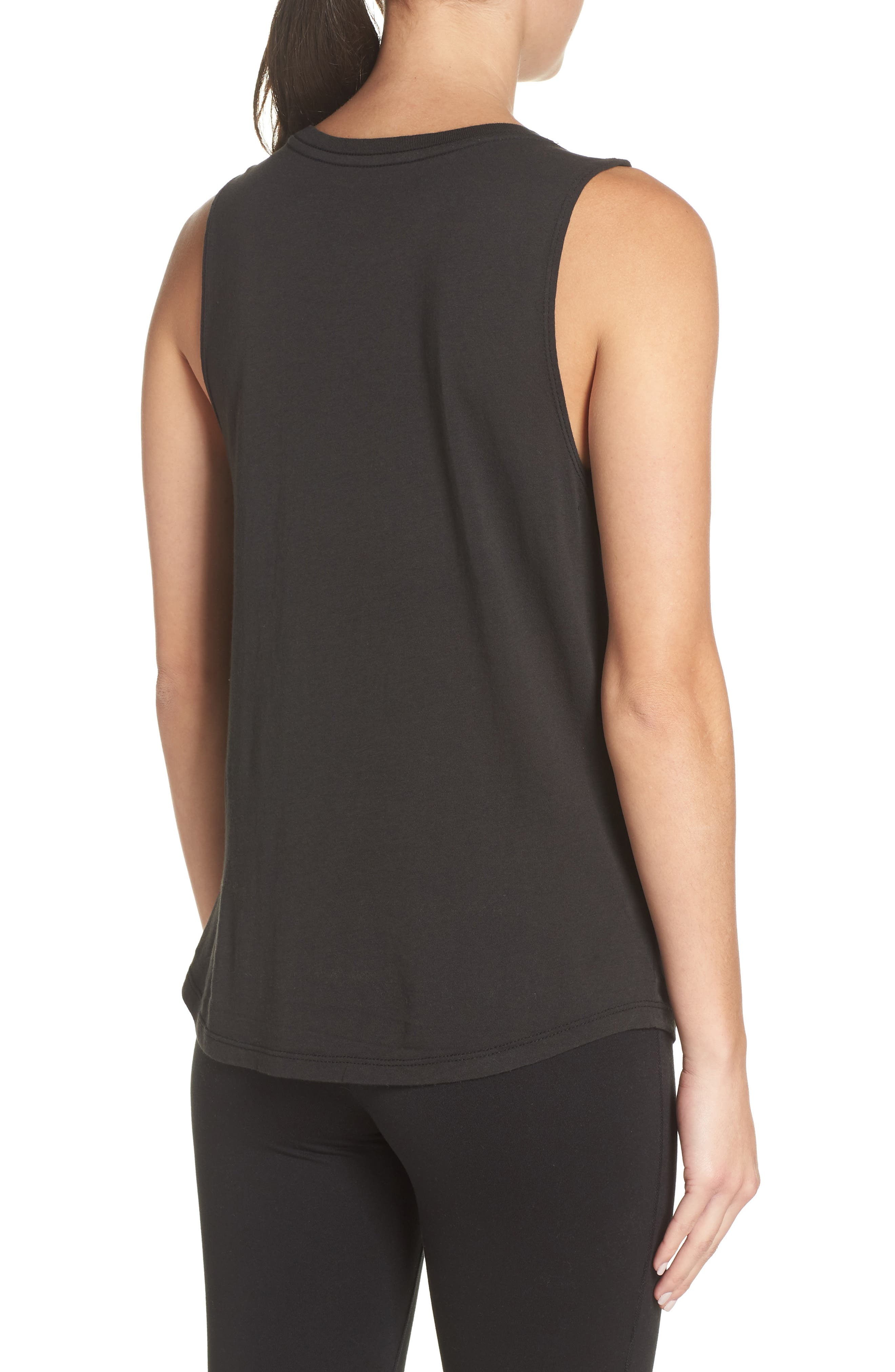 All One Muscle Tank,                             Alternate thumbnail 2, color,                             VINTAGE BLACK