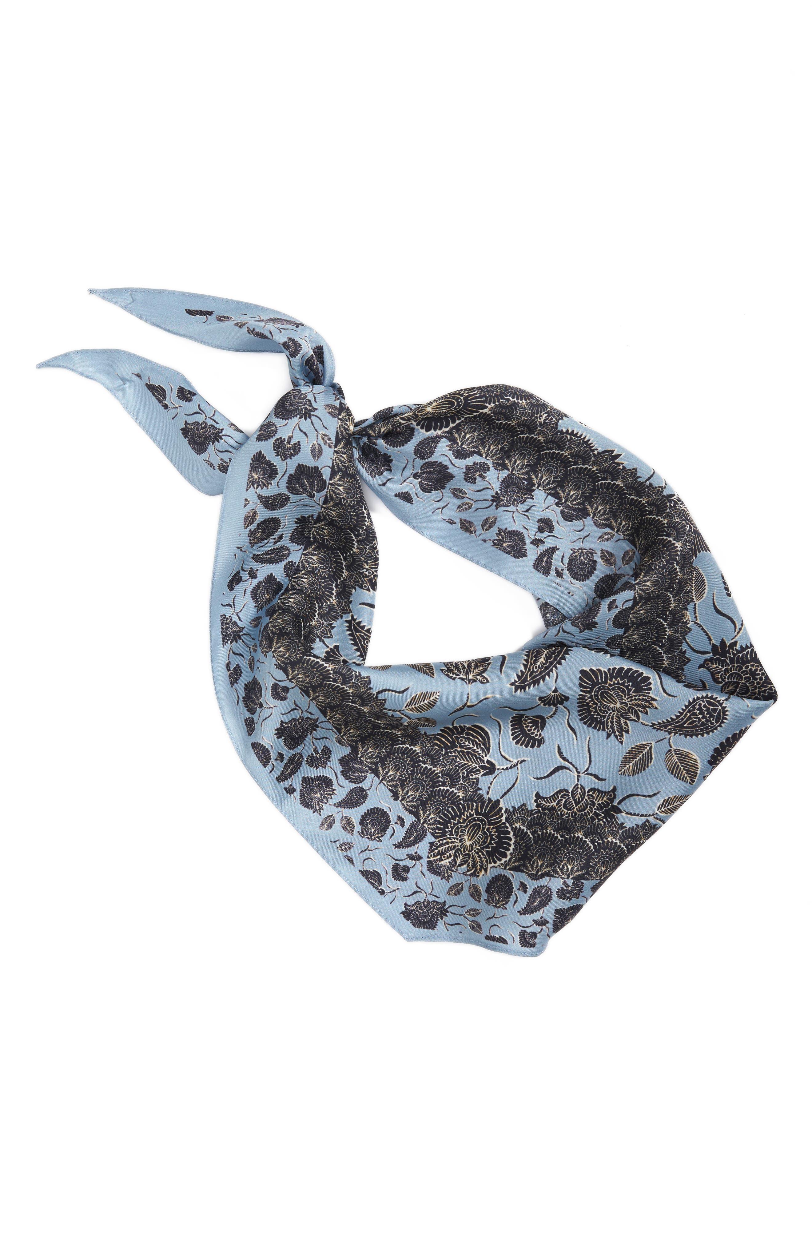 Lotus Paisley Diamond Silk Scarf,                             Alternate thumbnail 2, color,                             420