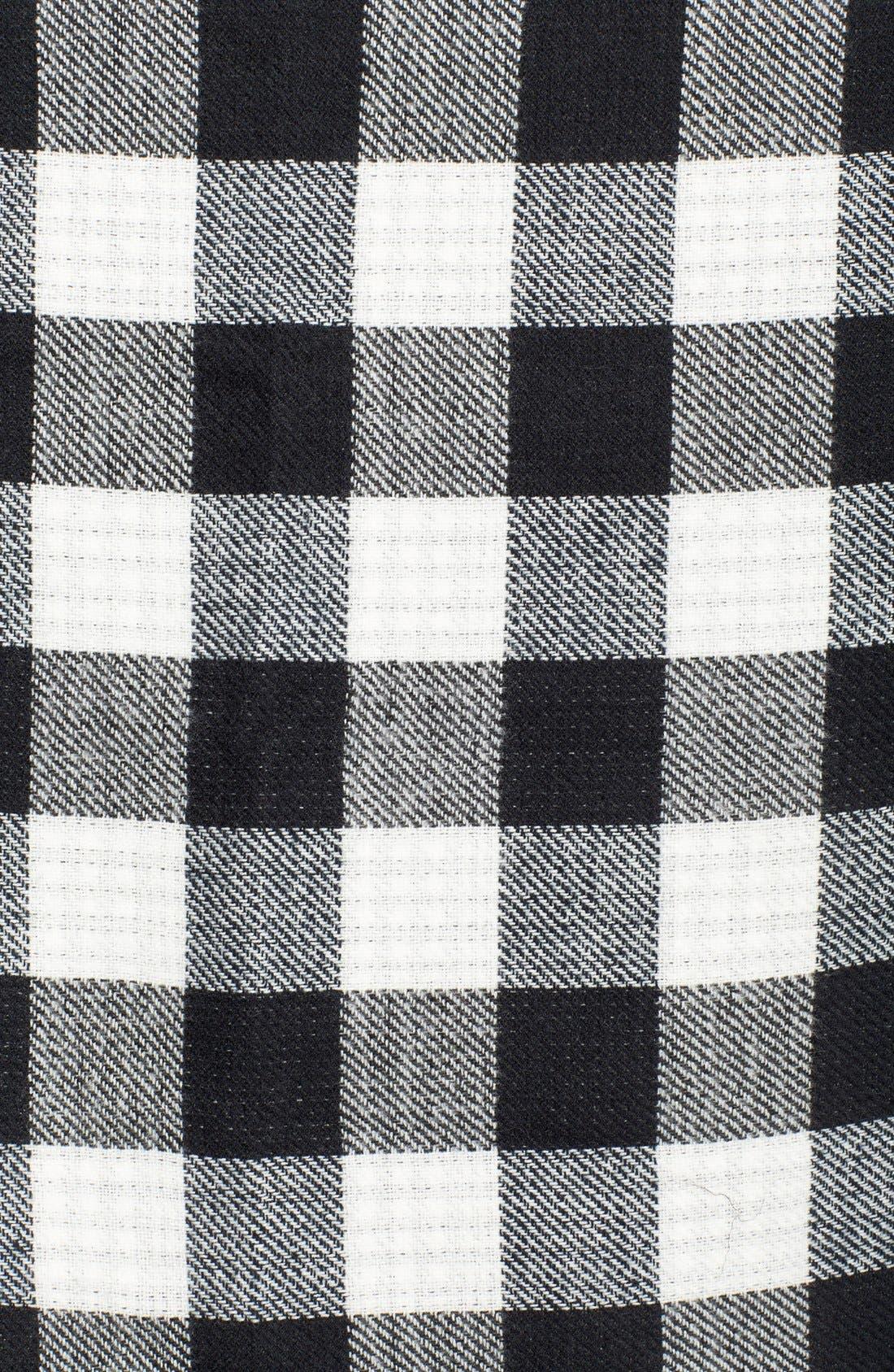 Buffalo Check Reversible Wrap,                             Alternate thumbnail 3, color,                             100