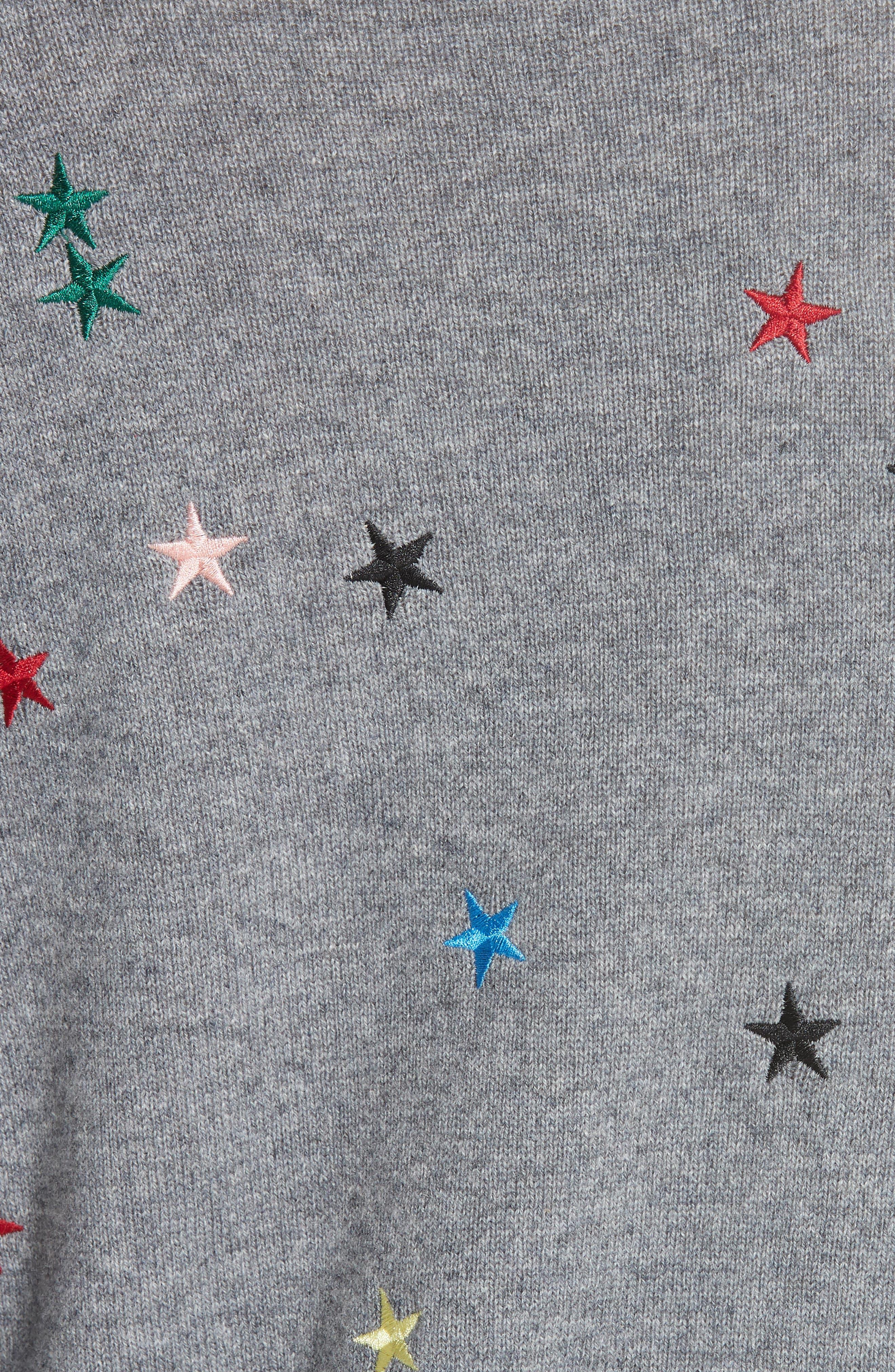 Shane Star Cashmere Sweater,                             Alternate thumbnail 5, color,                             030