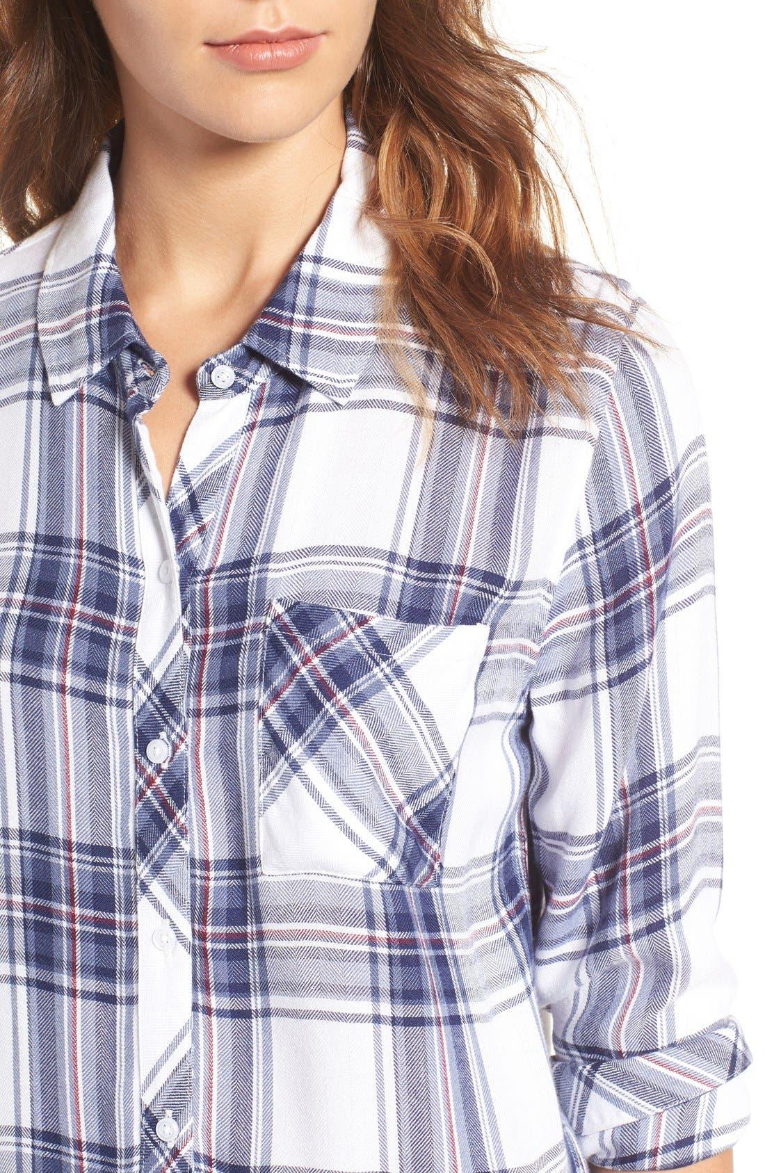 Hunter Plaid Shirt,                             Alternate thumbnail 380, color,