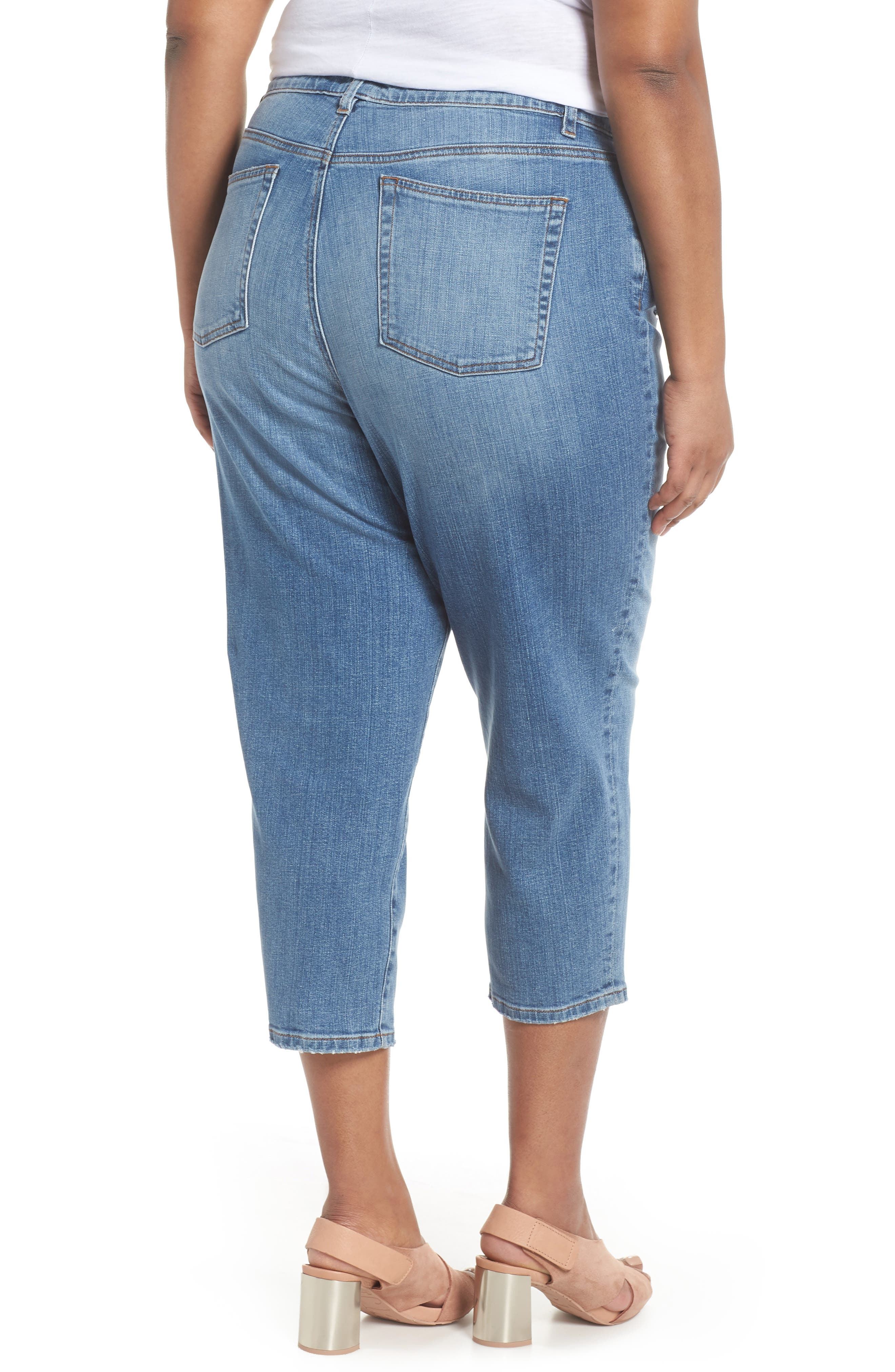 Tapered Crop Jeans,                             Alternate thumbnail 2, color,                             466