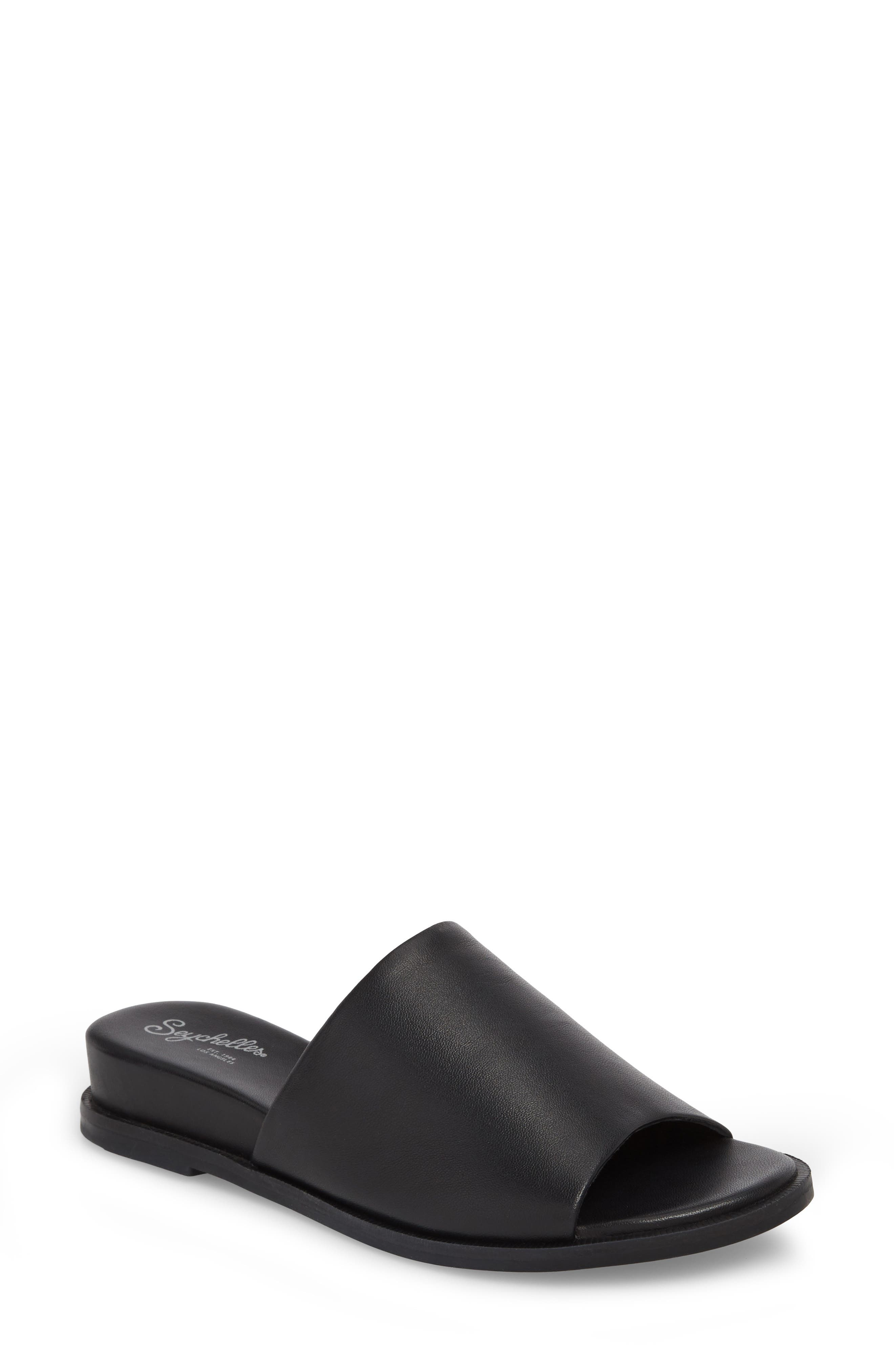 Relaxing Wedge Slide Sandal,                             Main thumbnail 1, color,                             001