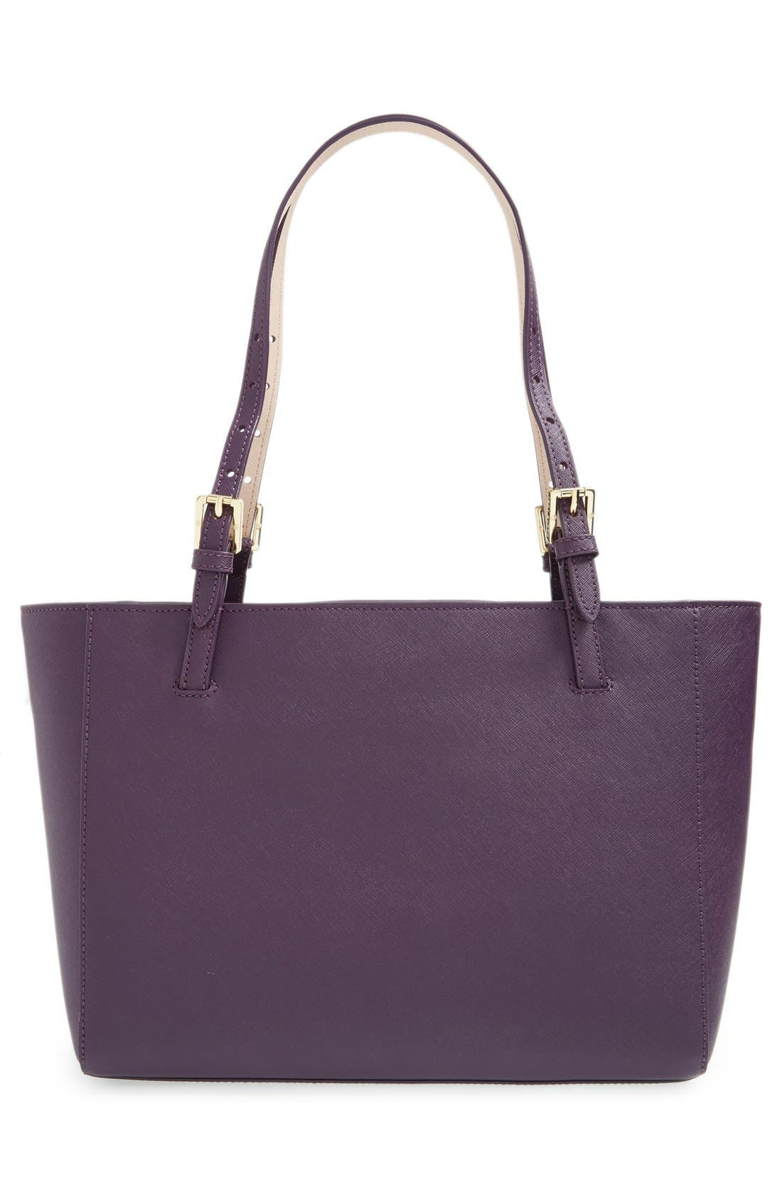 'Small York' Saffiano Leather Buckle Tote,                             Alternate thumbnail 39, color,