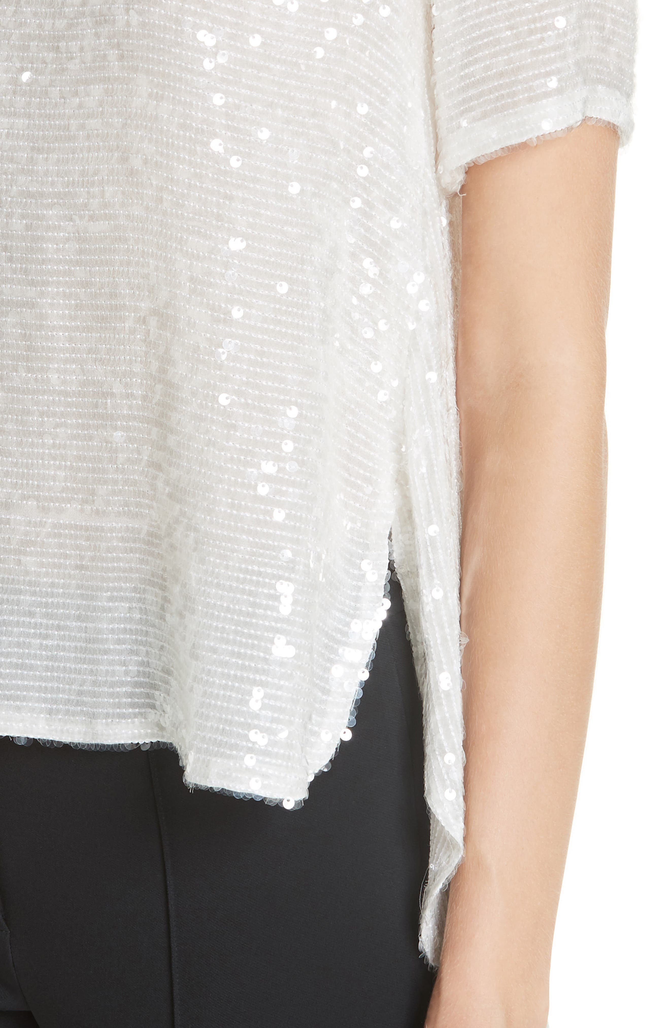 ADAM LIPPES,                             Open Back Sequin Embroidered Blouse,                             Alternate thumbnail 4, color,                             906