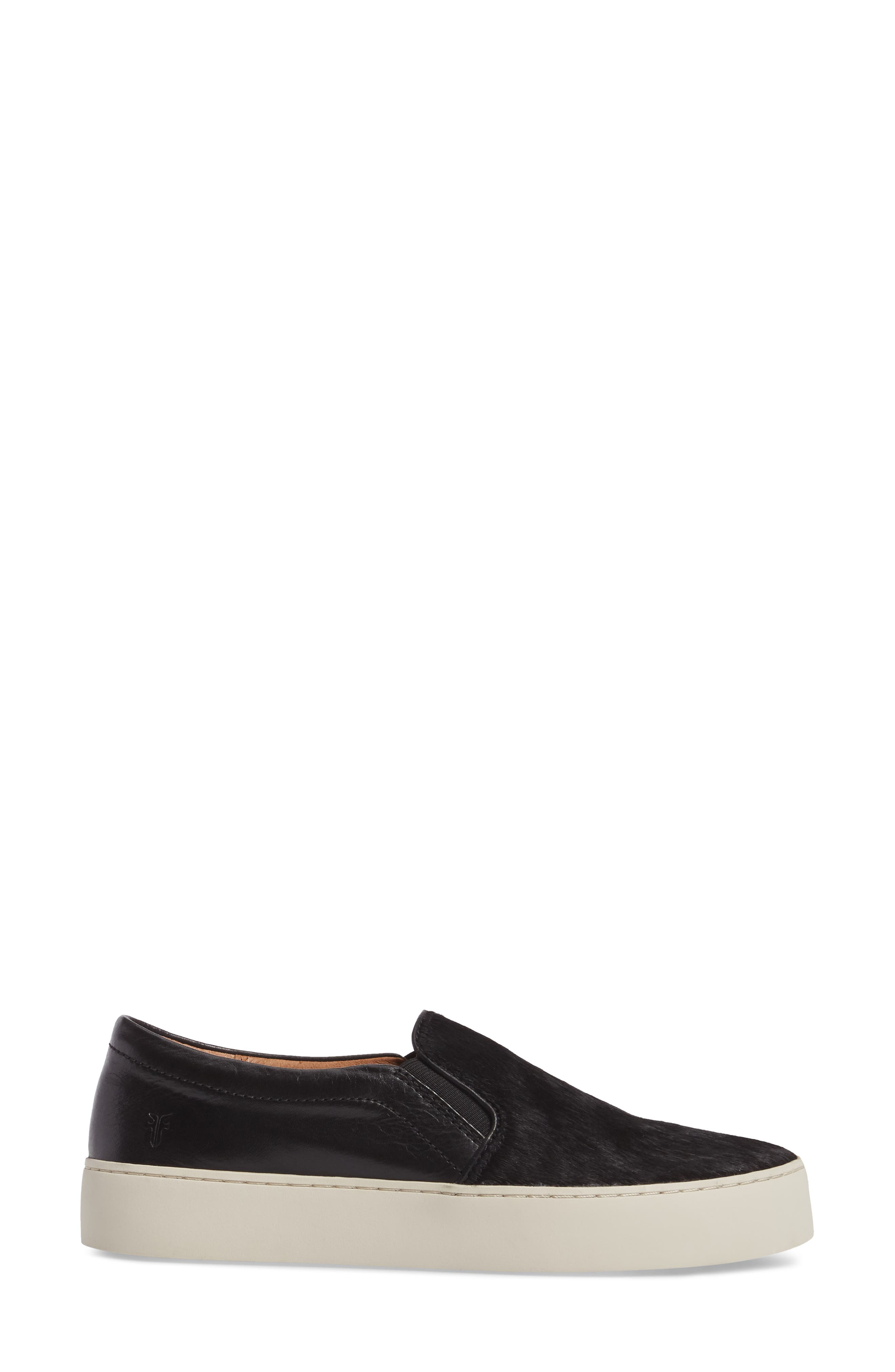Lena Slip-On Sneaker,                             Alternate thumbnail 3, color,                             BLACK