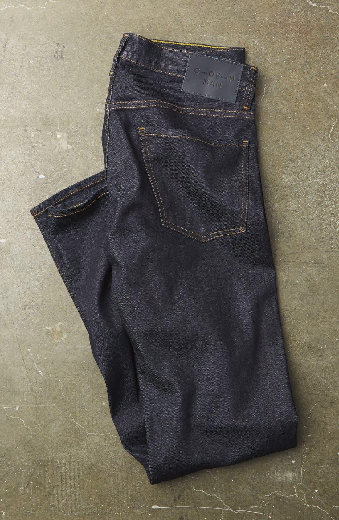 Core Slim Straight Leg Jeans,                             Alternate thumbnail 7, color,