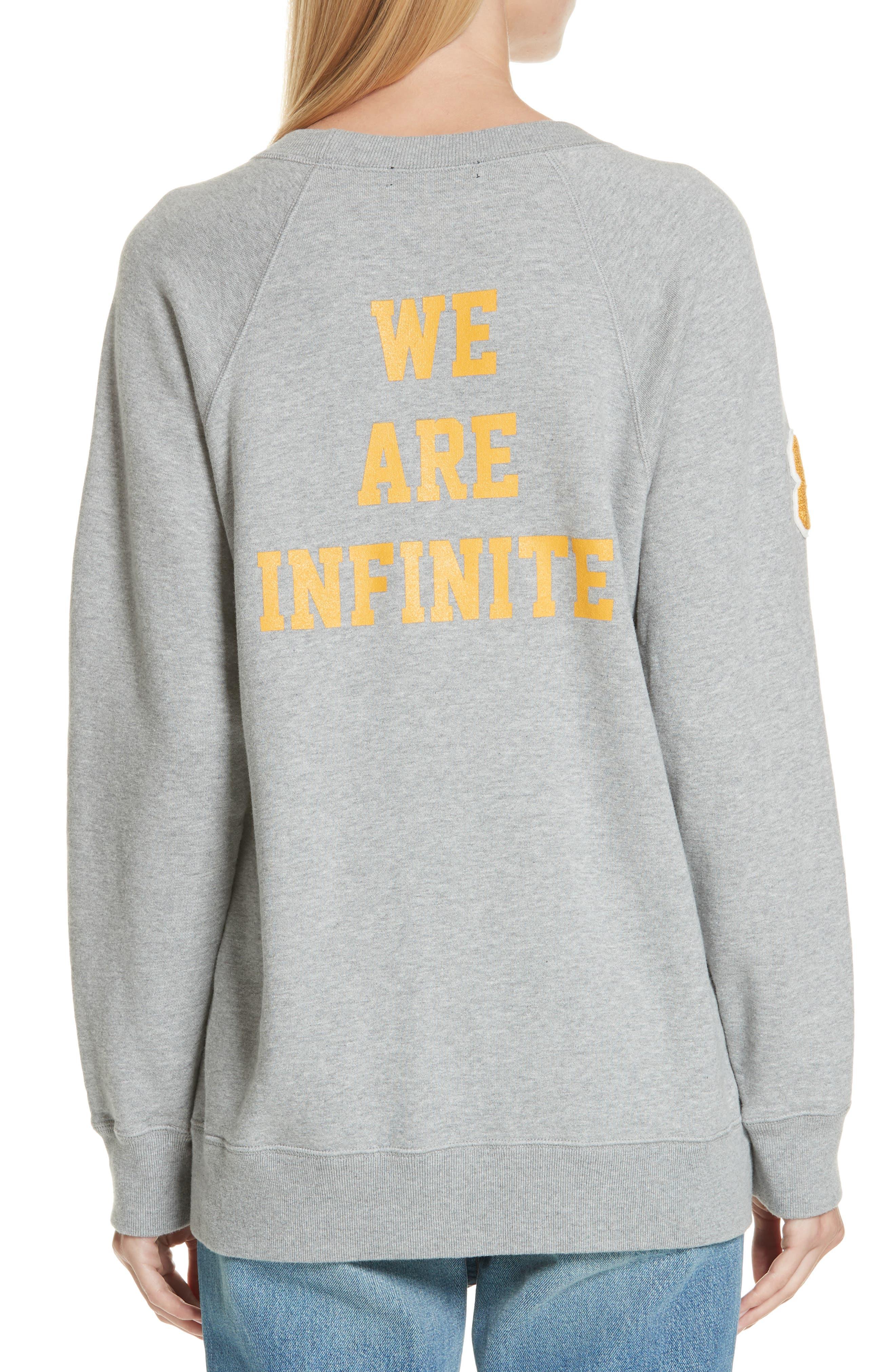 Unbroken Innocence Sweatshirt,                             Alternate thumbnail 2, color,                             B TOP GRAY
