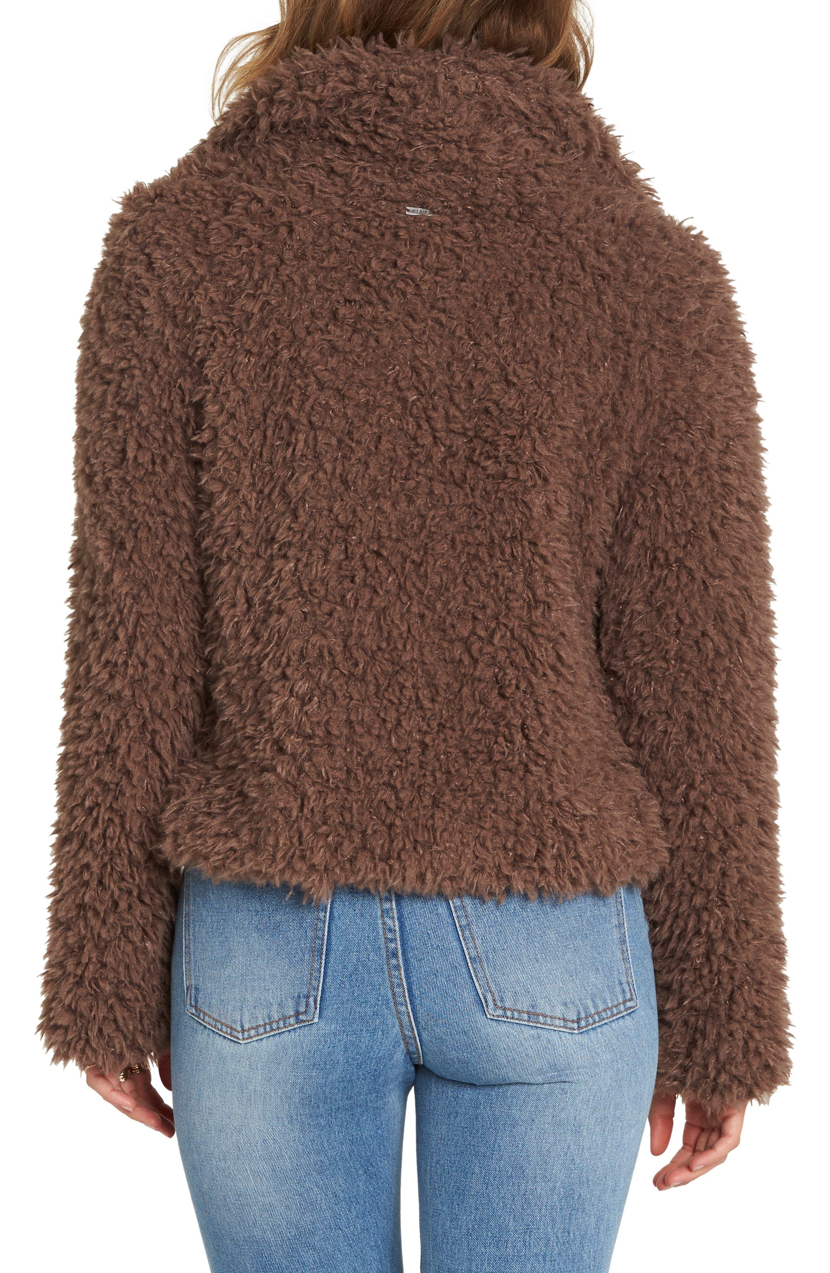 Fur Keeps Faux Fur Crop Jacket,                             Alternate thumbnail 2, color,                             COYOTE